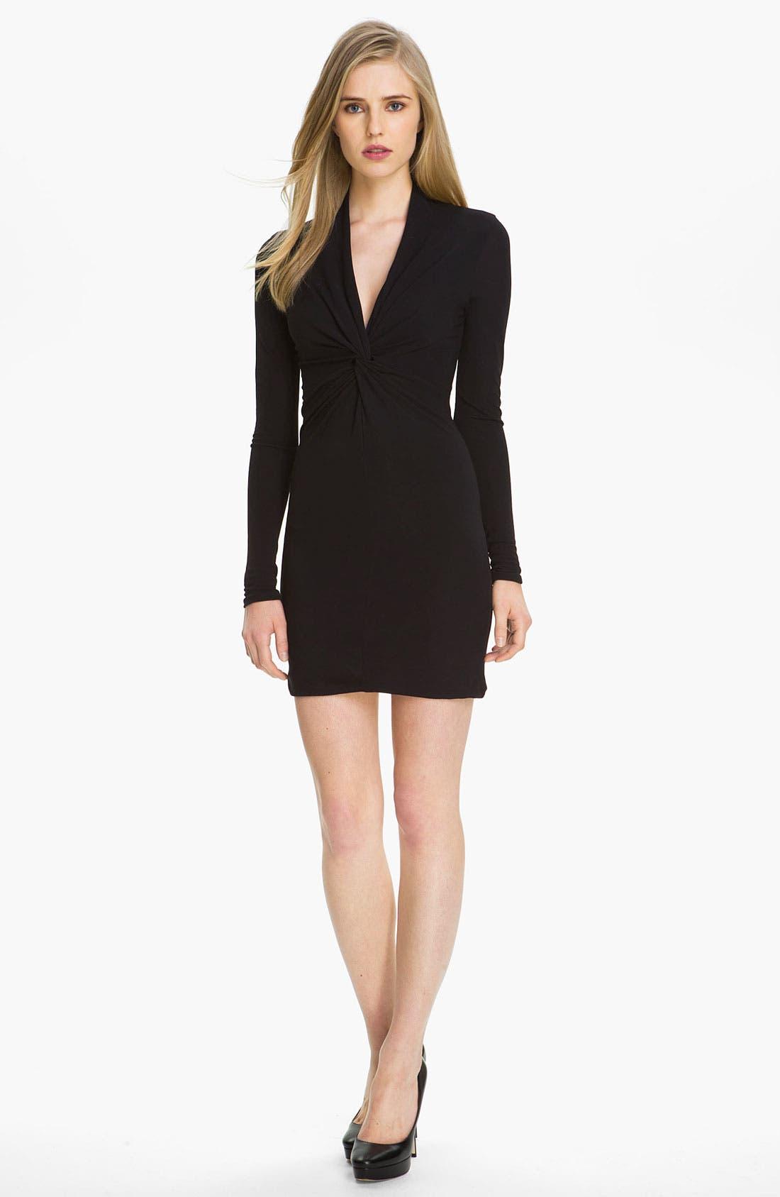 Alternate Image 1 Selected - Halston Heritage Twist Front Jersey Dress