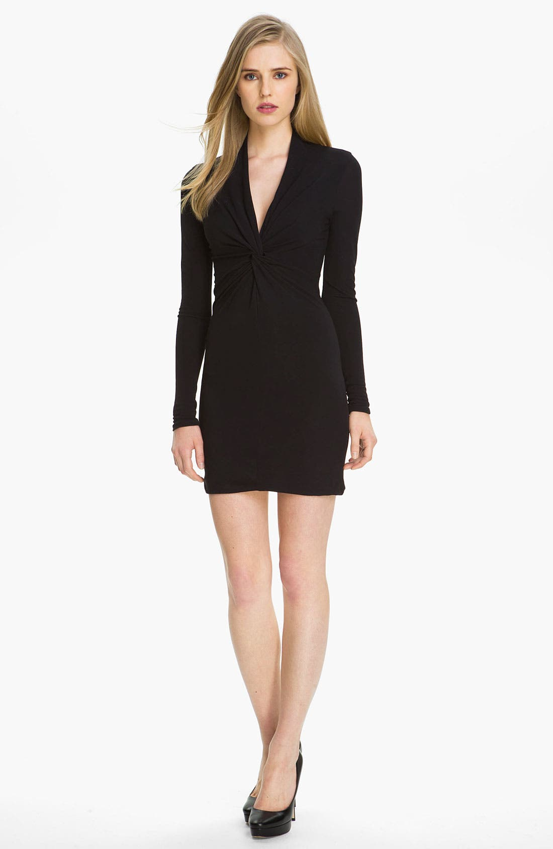 Main Image - Halston Heritage Twist Front Jersey Dress