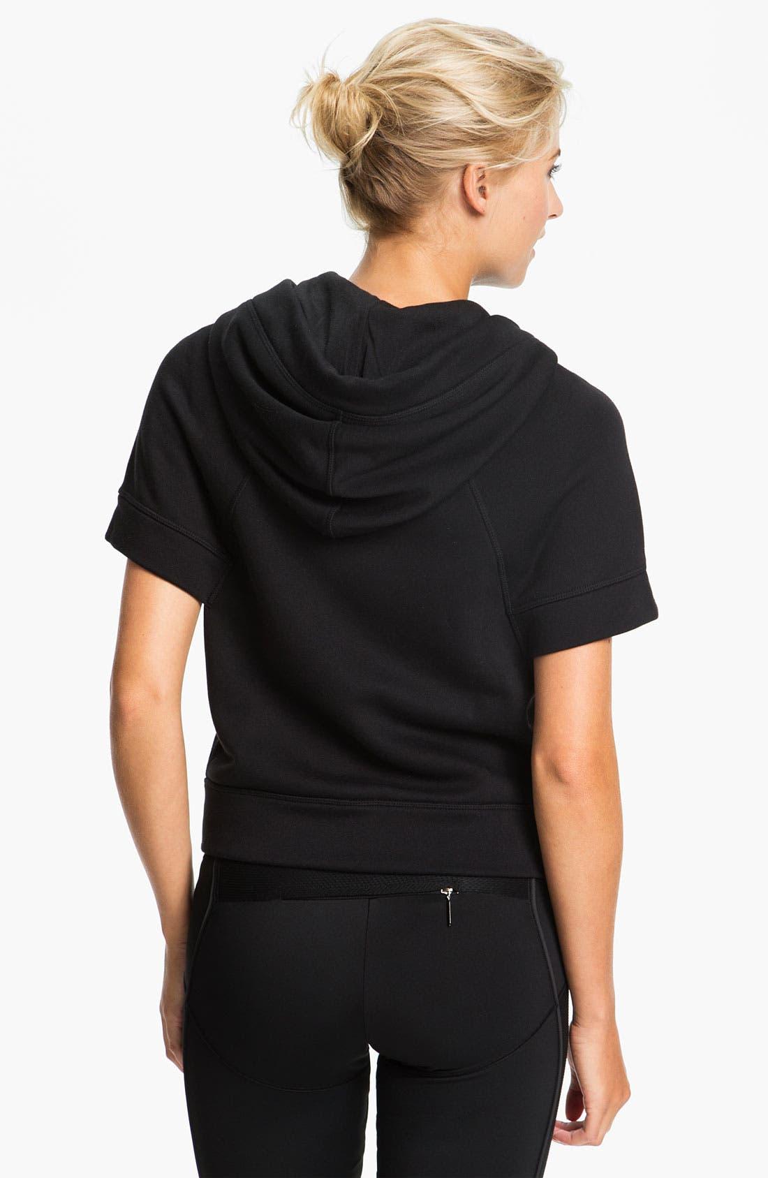 Alternate Image 2  - adidas by Stella McCartney 'Studio' Short Sleeve Hoodie