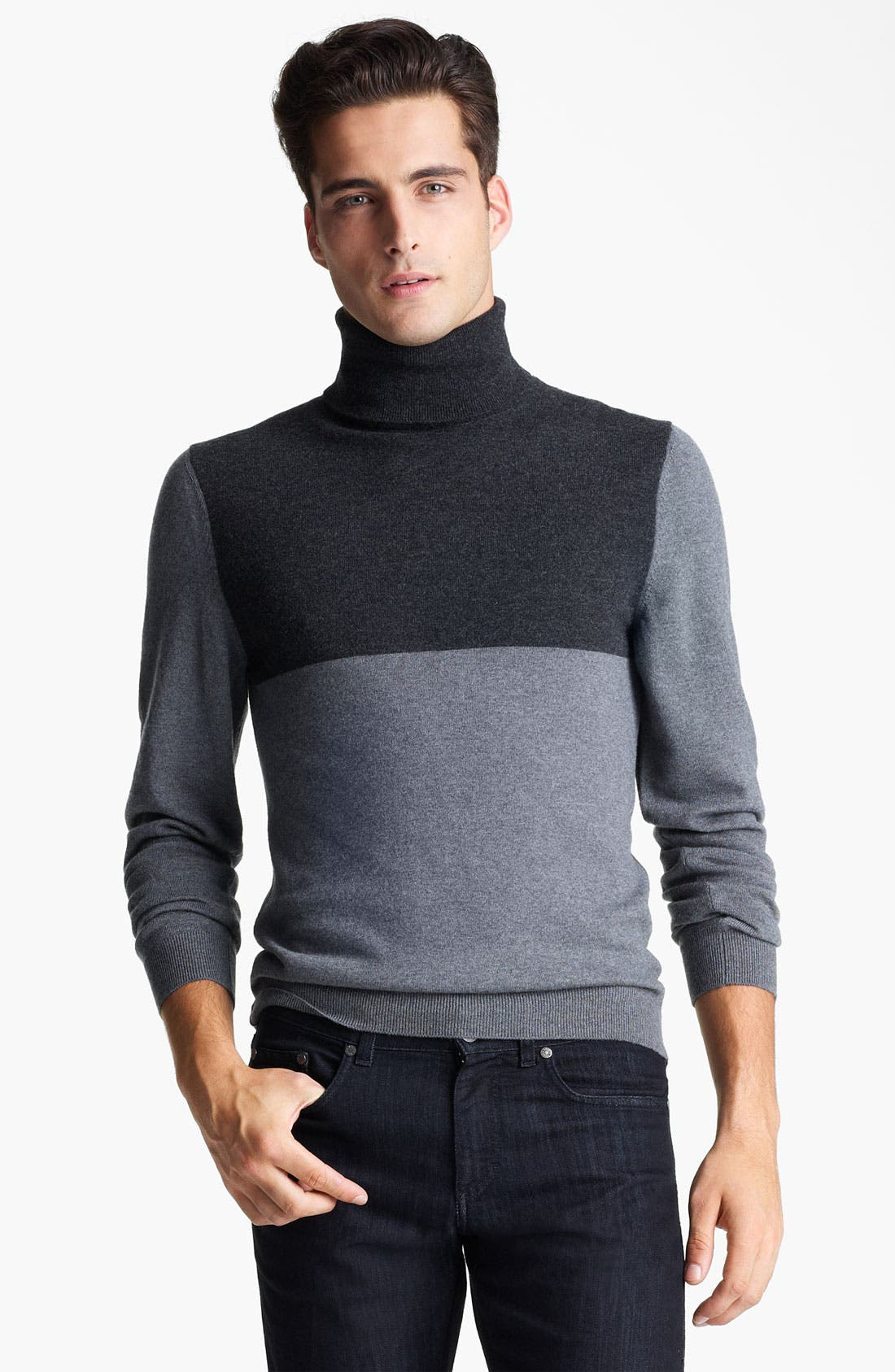 Alternate Image 1 Selected - Z Zegna Wool Turtleneck Sweater