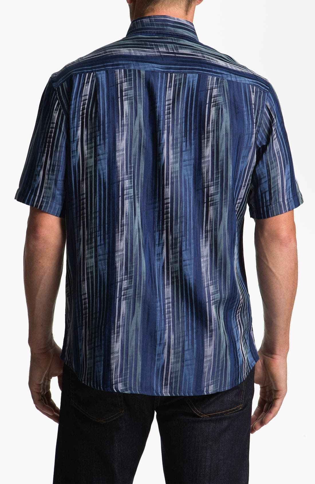 Alternate Image 2  - Jhane Barnes Collection 'Striate' Cotton & Silk Sport Shirt