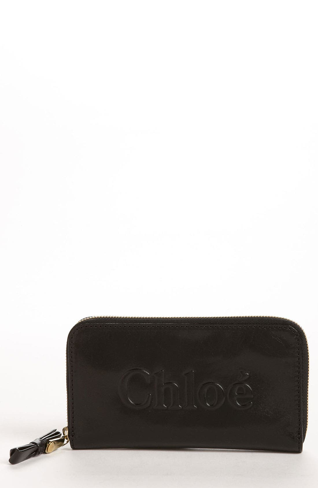 Alternate Image 1 Selected - Chloé 'Shadow - Long' Zip Around Leather Wallet