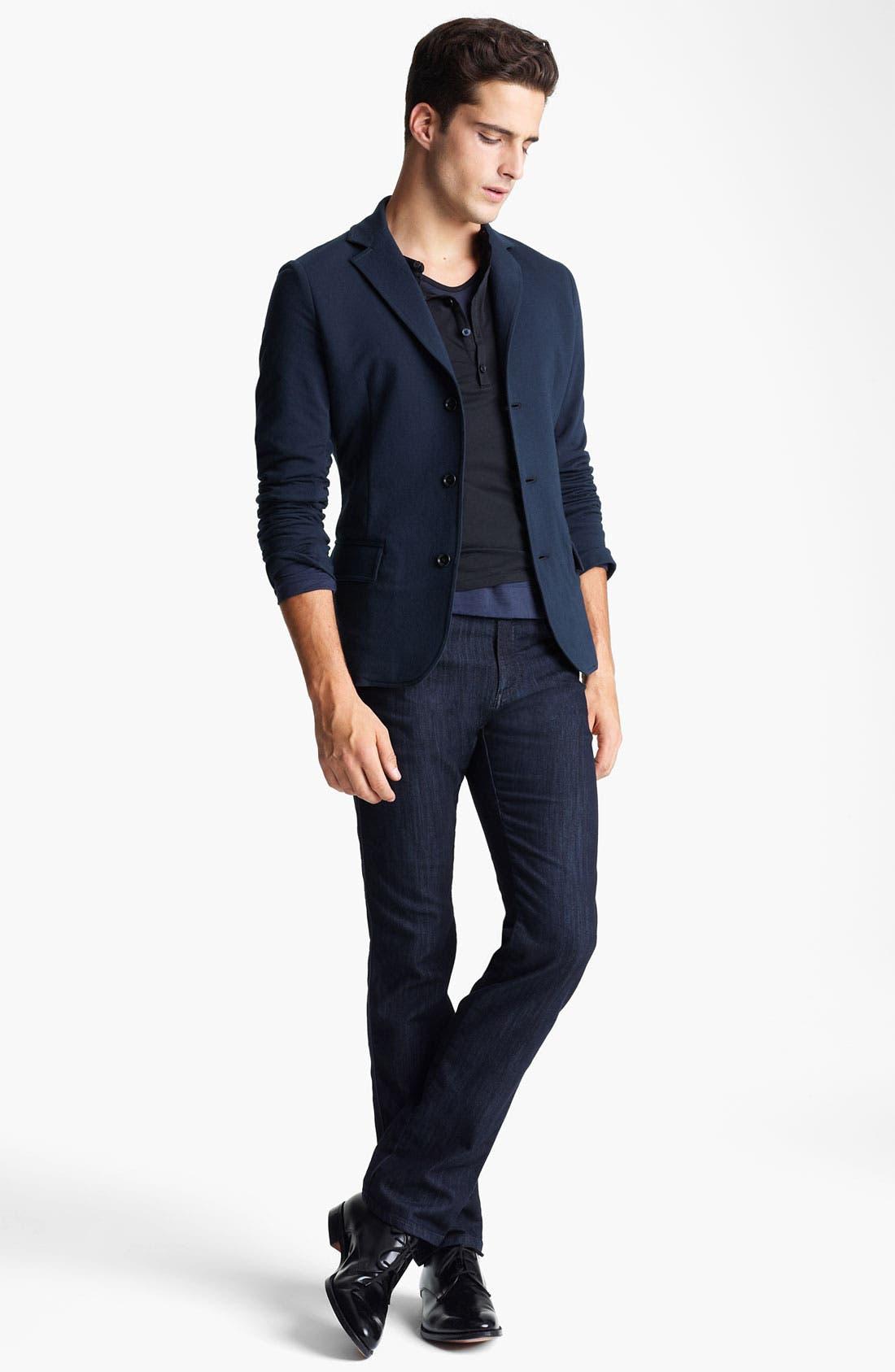 Alternate Image 4  - Z Zegna Jersey Blazer