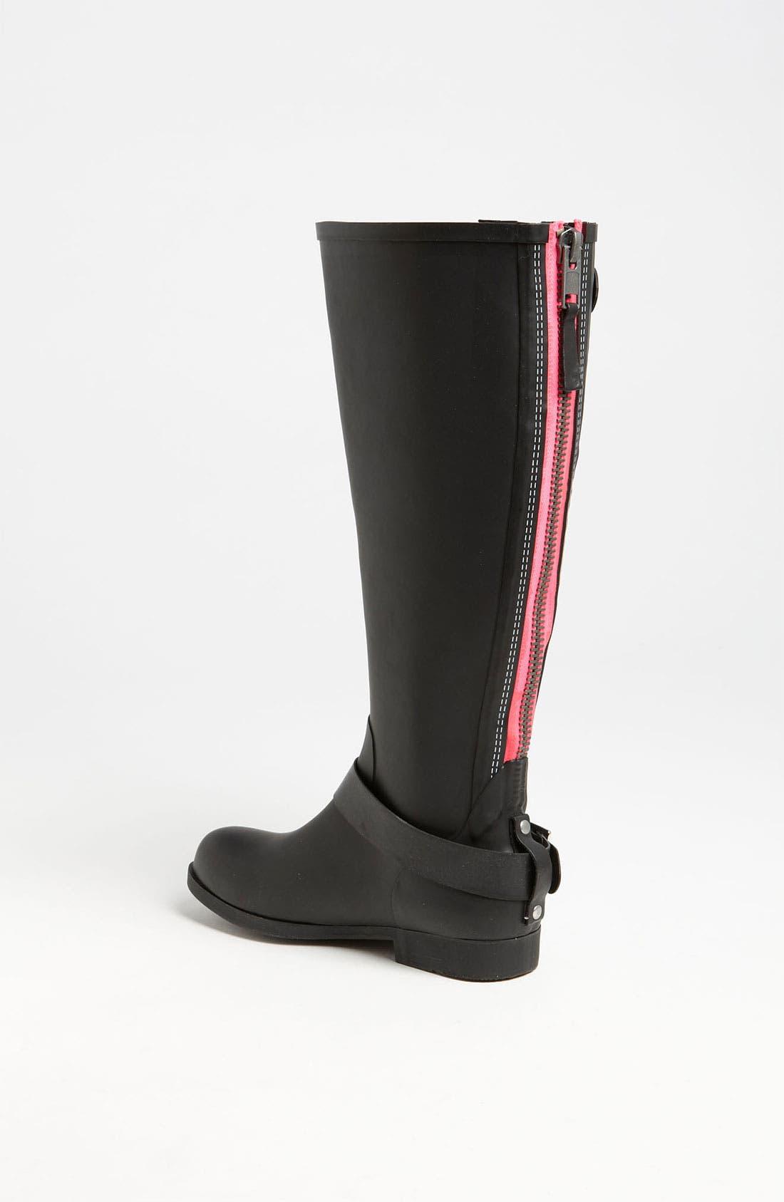 Alternate Image 2  - Steve Madden 'Tsunamii' Contrast Zip Rain Boot (Women)