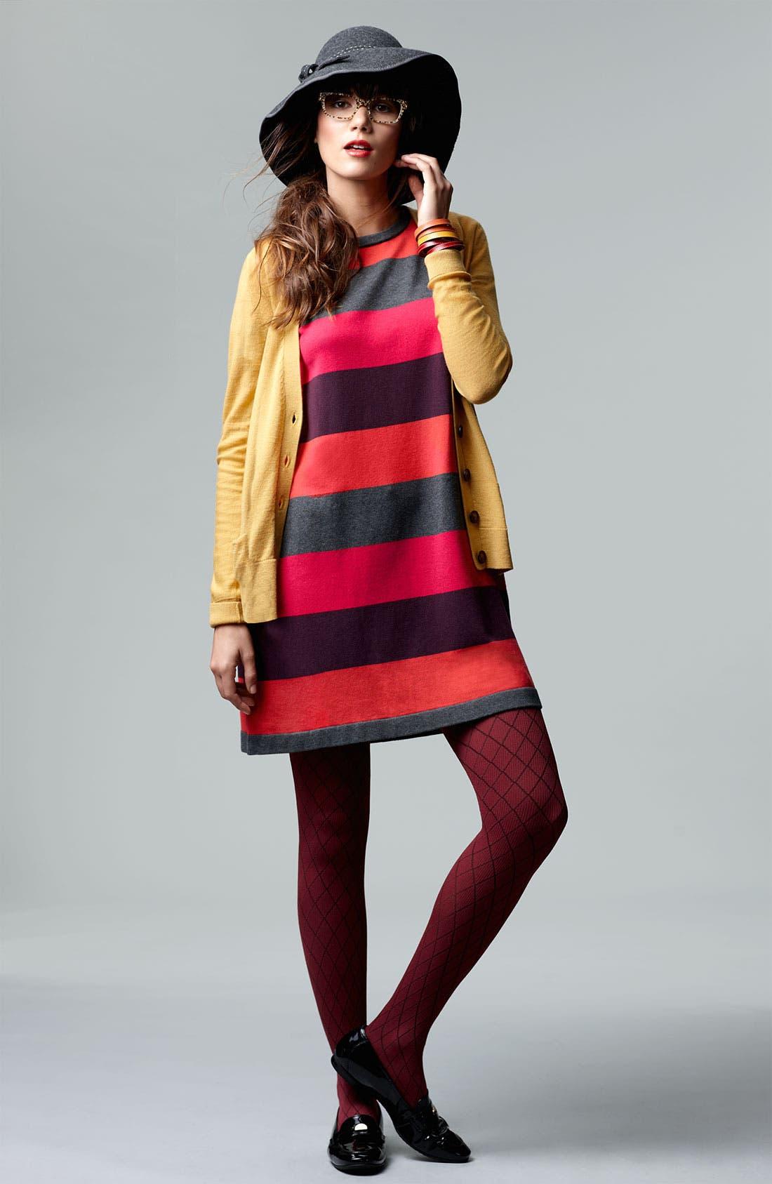 Alternate Image 5  - Calvin Klein Stripe Knit Sweater Dress