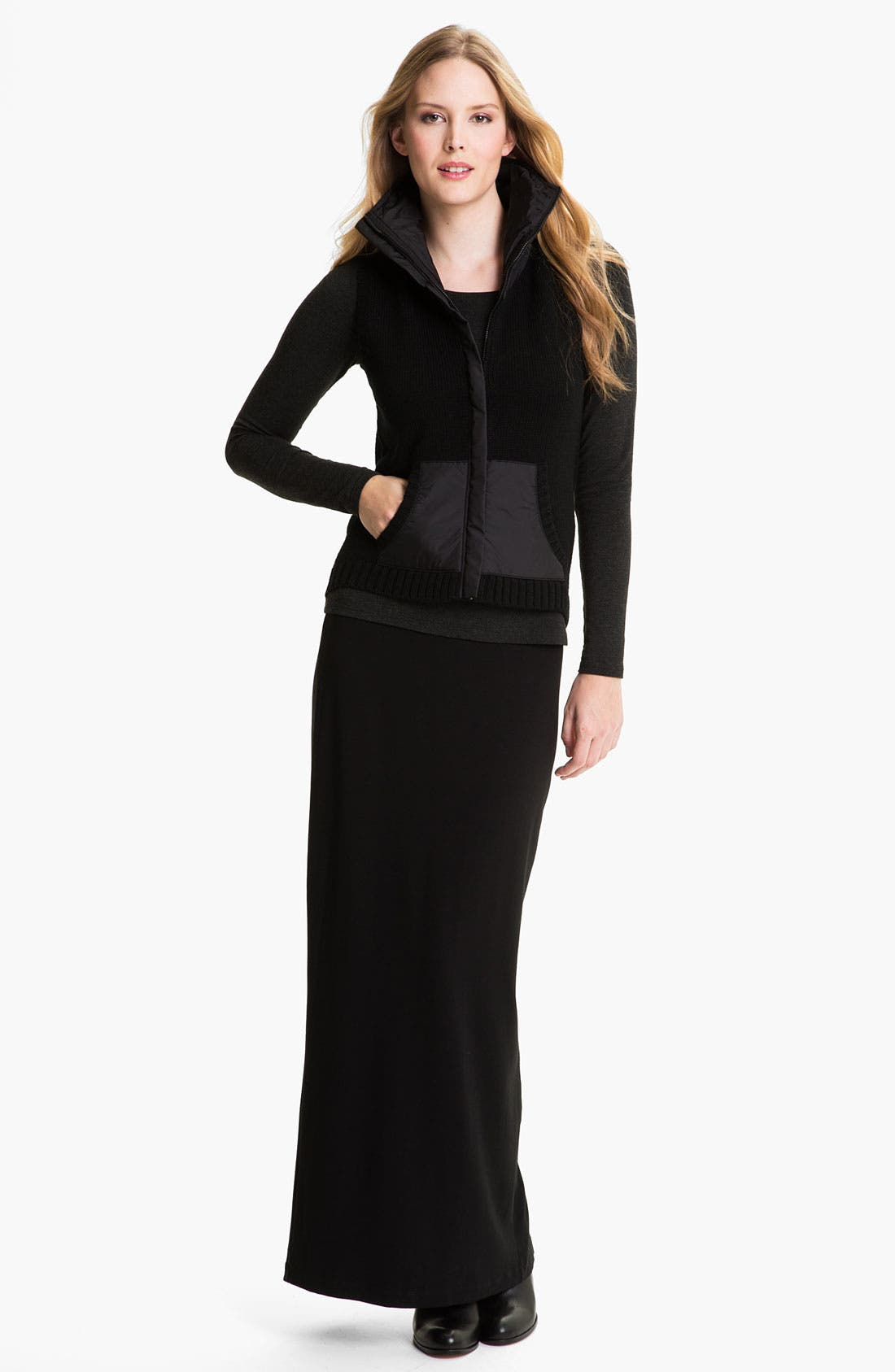 Alternate Image 4  - Eileen Fisher Parka Trim Wool Vest