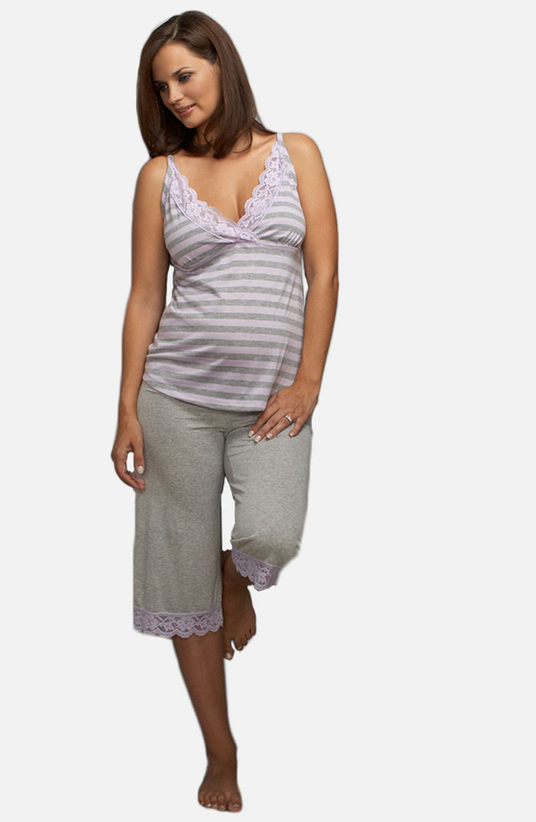 Alternate Image 1 Selected - Maternal America Maternity Pajamas