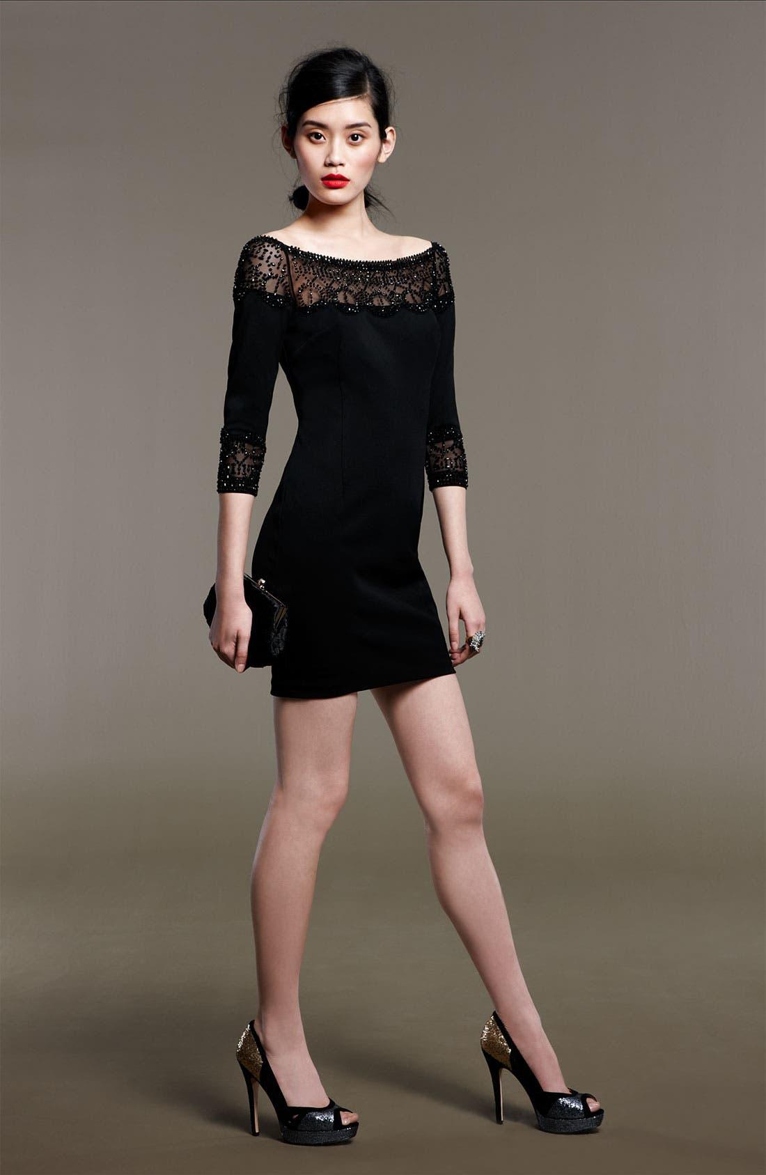 Alternate Image 5  - Alexia Admor Bead Trim Off the Shoulder Sheath Dress
