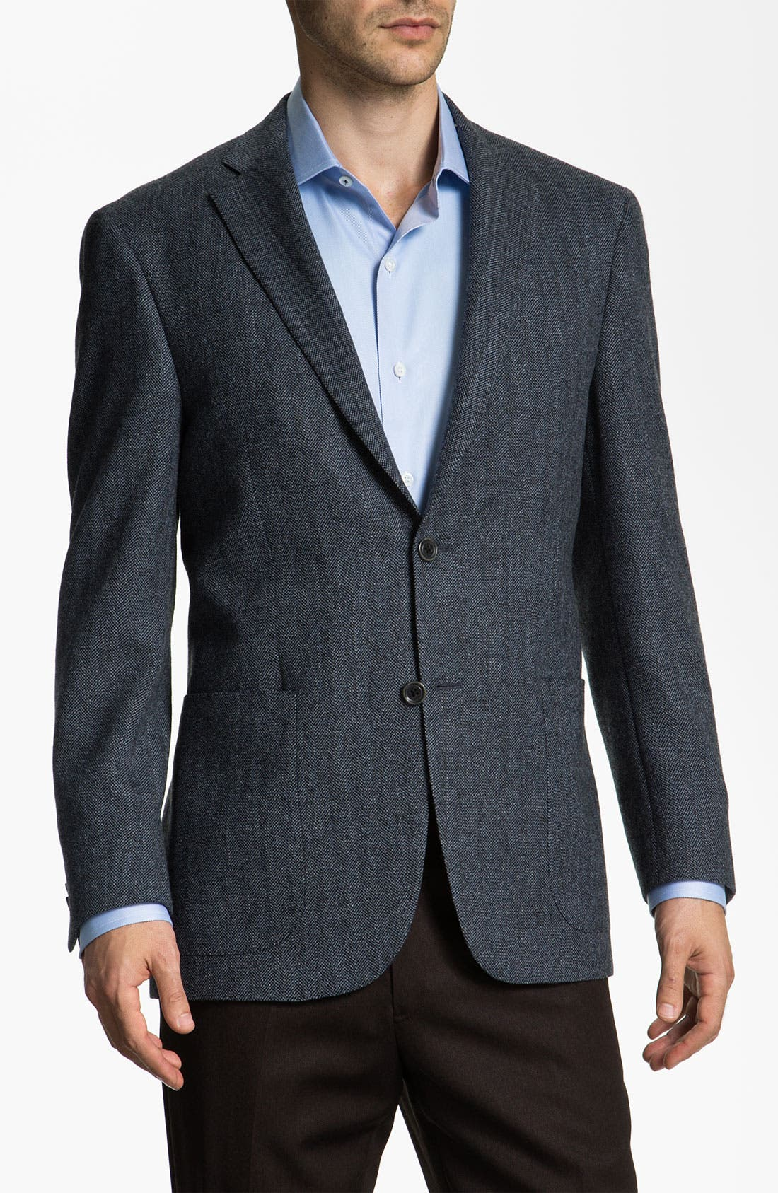 Alternate Image 1 Selected - Hart Schaffner Marx Herringbone Blazer