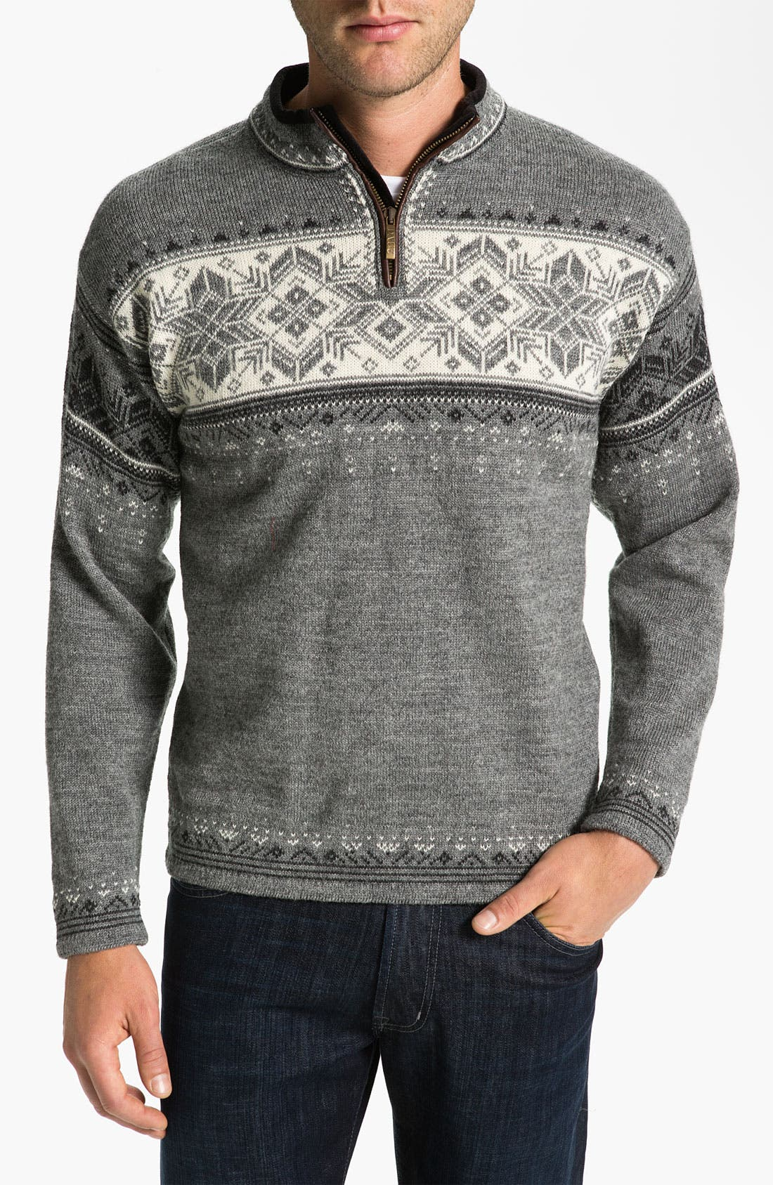Alternate Image 1 Selected - Dale of Norway 'Blyfjell' Quarter Zip Wool Sweater
