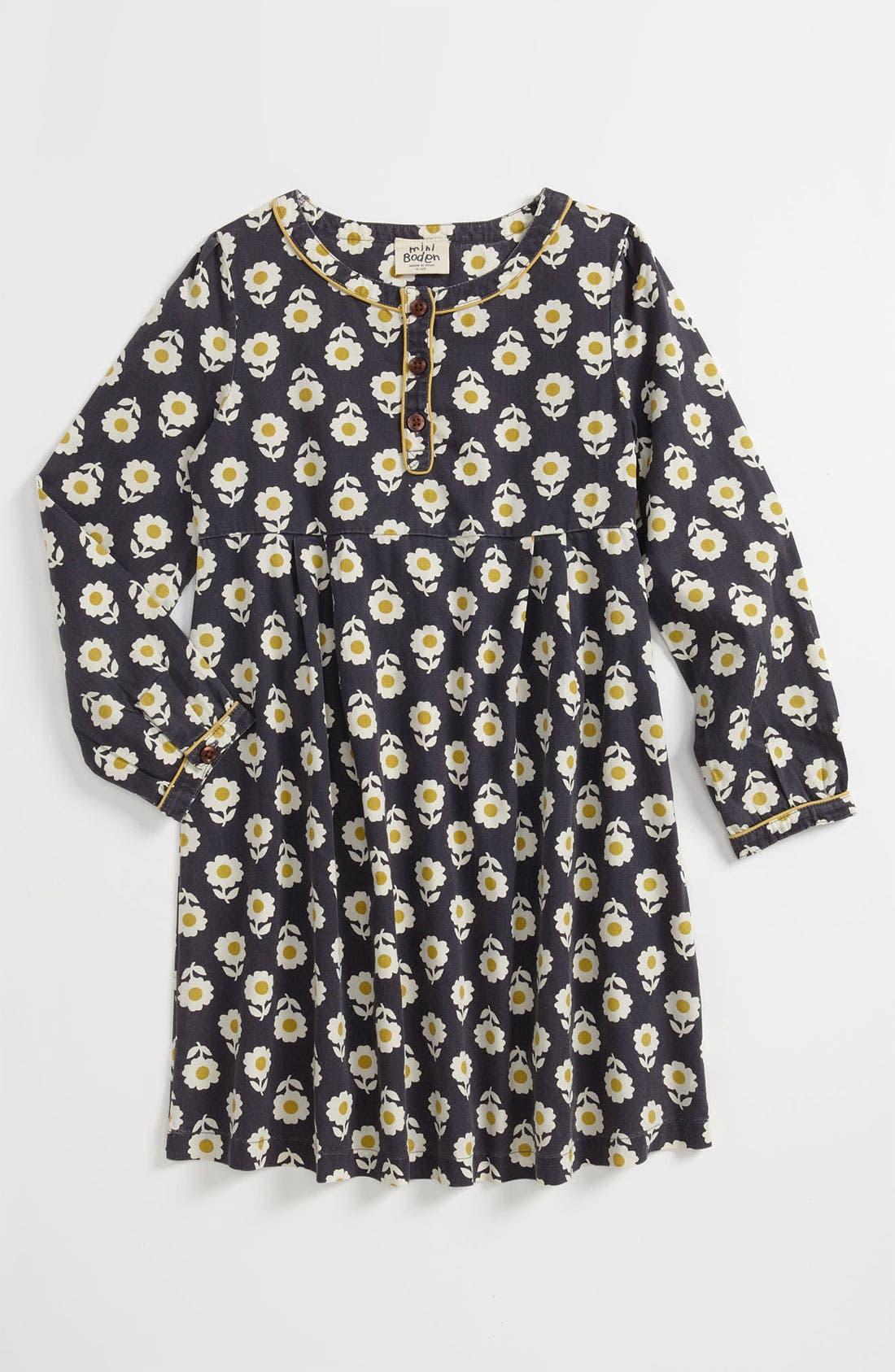 Alternate Image 1 Selected - Mini Boden 'Easy' Print Dress (Little Girls & Big Girls)