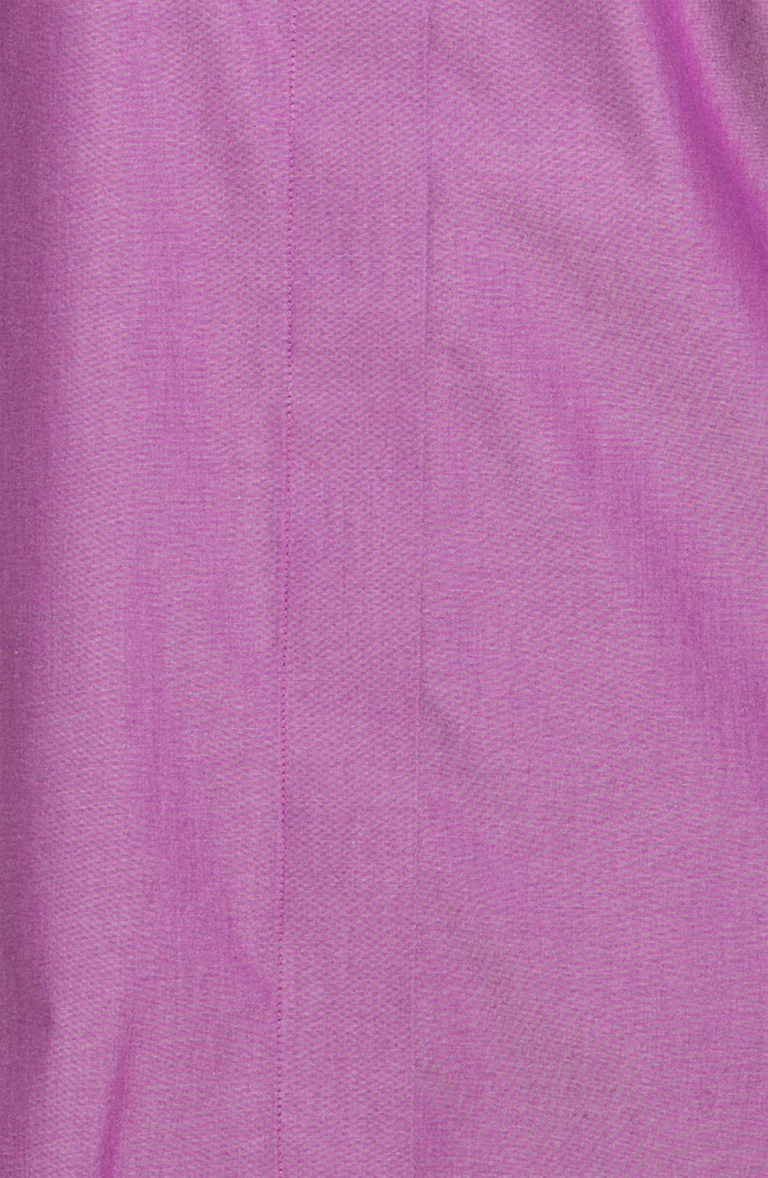 Alternate Image 3  - Foxcroft Wrinkle Free Shaped Shirt (Plus Size)