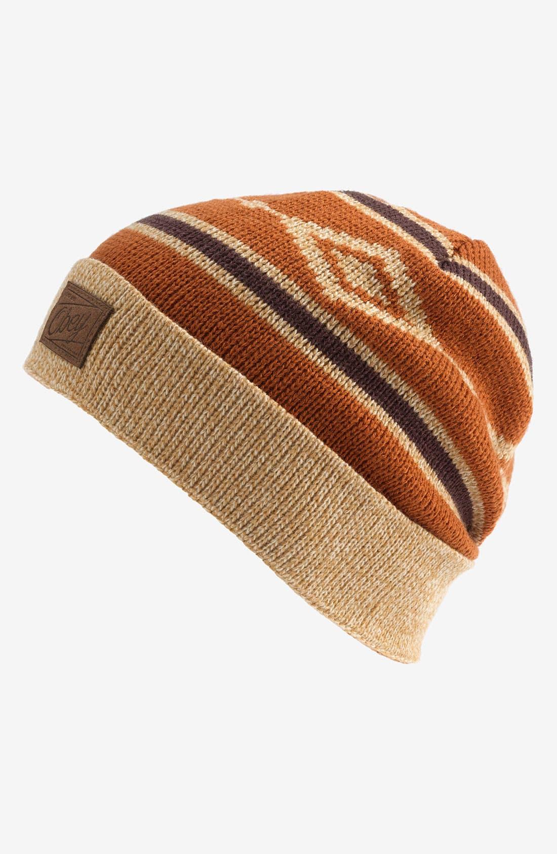 Main Image - Obey 'Aztec' Knit Cap