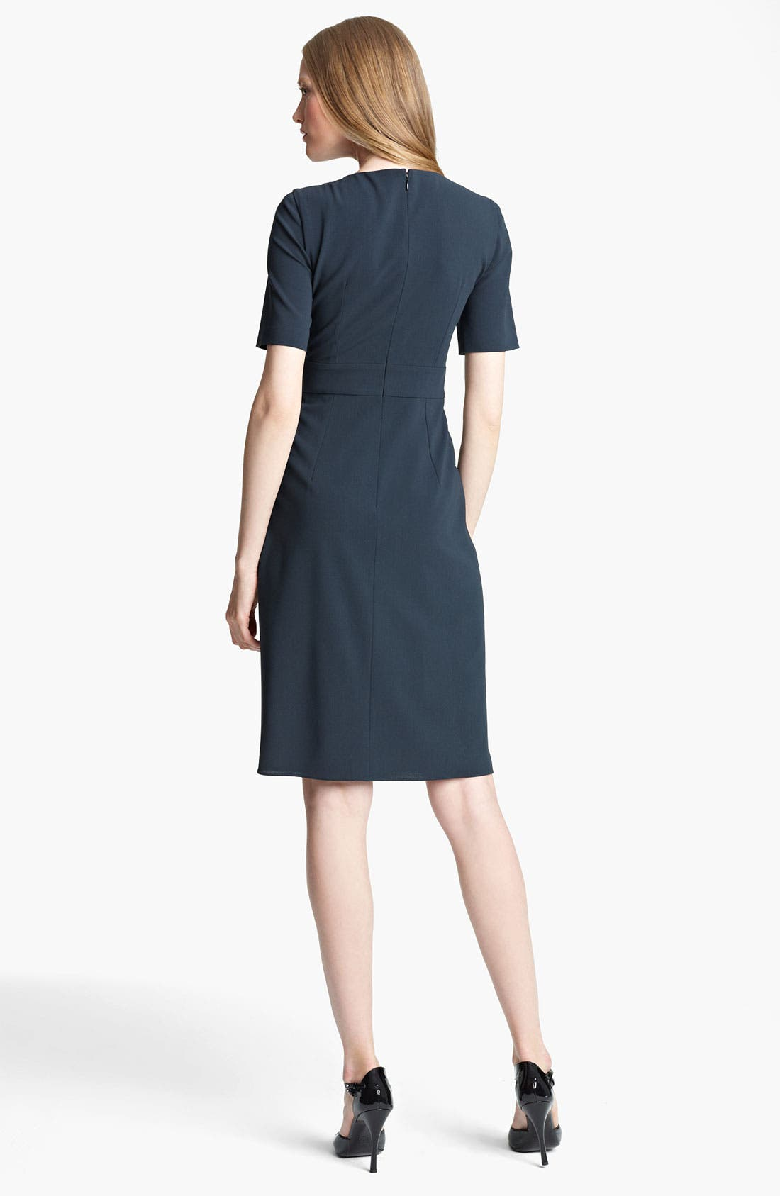 Alternate Image 2  - Armani Collezioni Drape Front Crepe Dress
