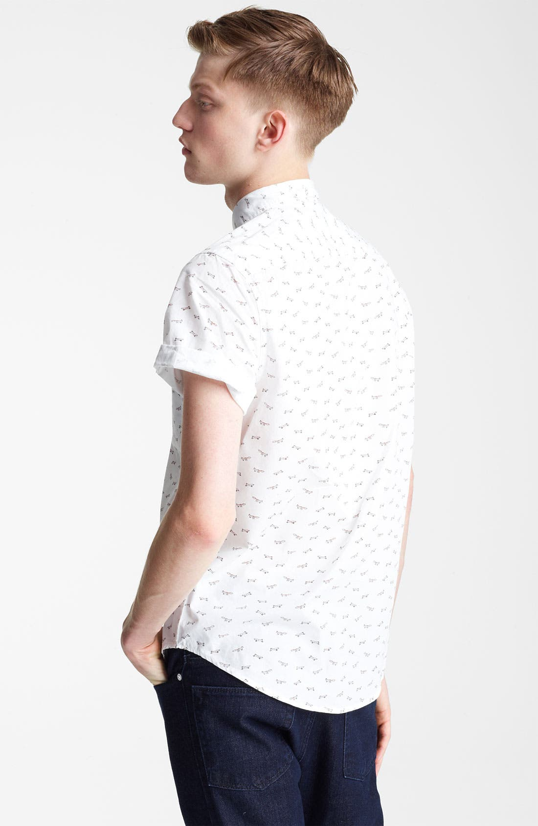 Alternate Image 2  - Topman 'High Roller' All Over Fox Pattern Shirt