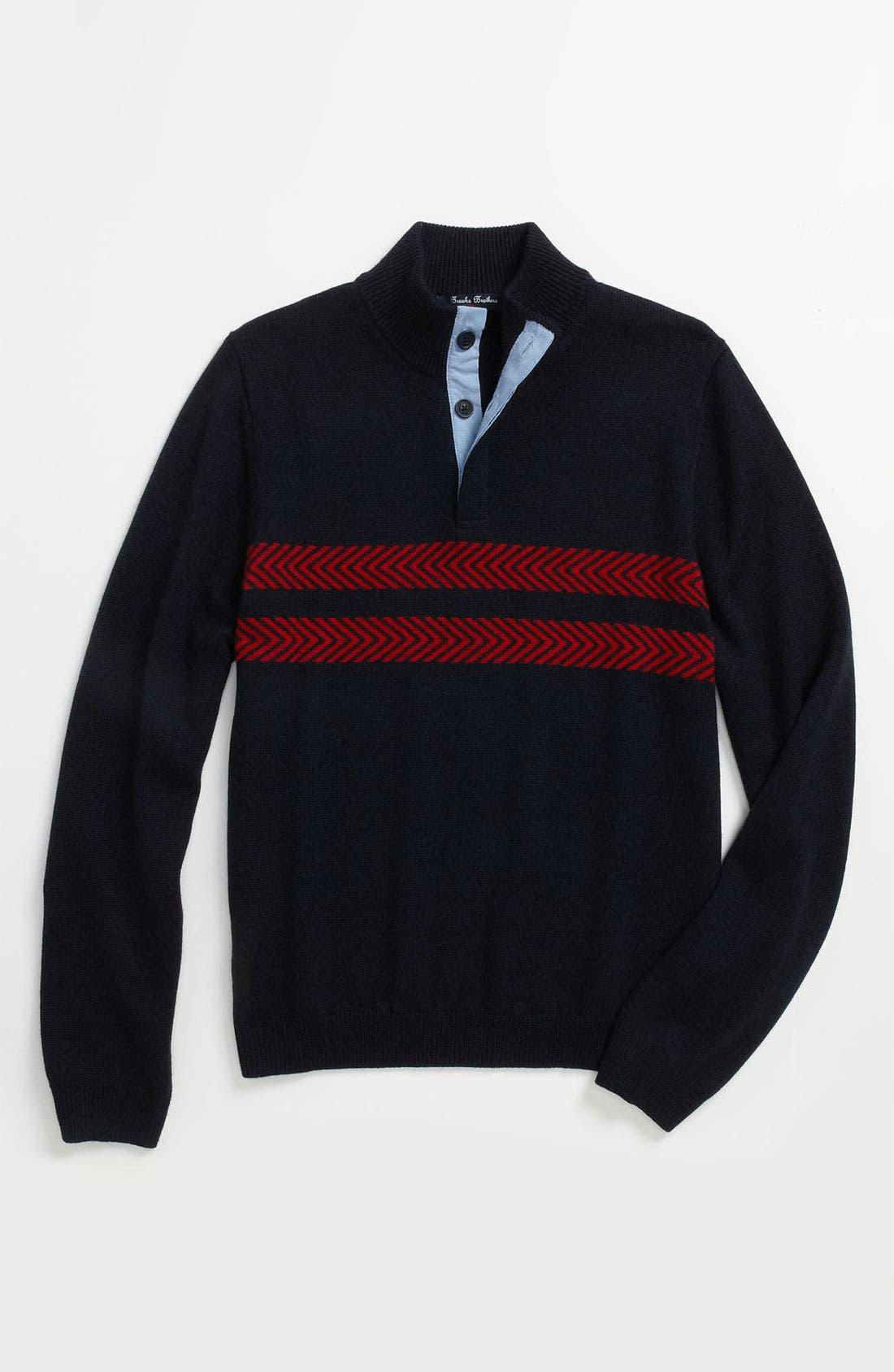 Main Image - Brooks Brothers Stand-Up Collar Sweater (Big Boys)