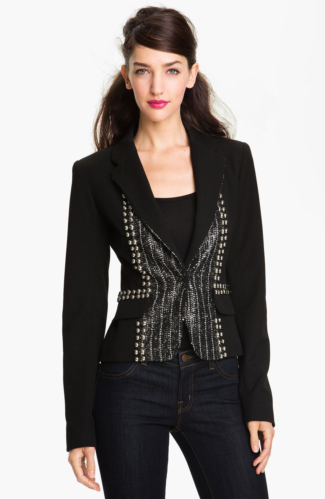 Alternate Image 1 Selected - Nanette Lepore 'Fame' Embellished Blazer