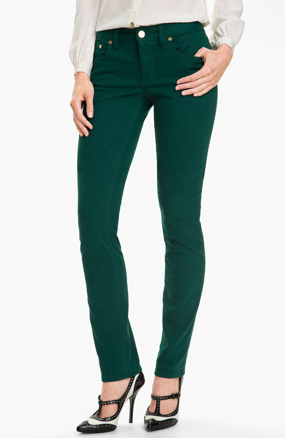 Main Image - Tory Burch 'Ivy' Skinny Stretch Jeans