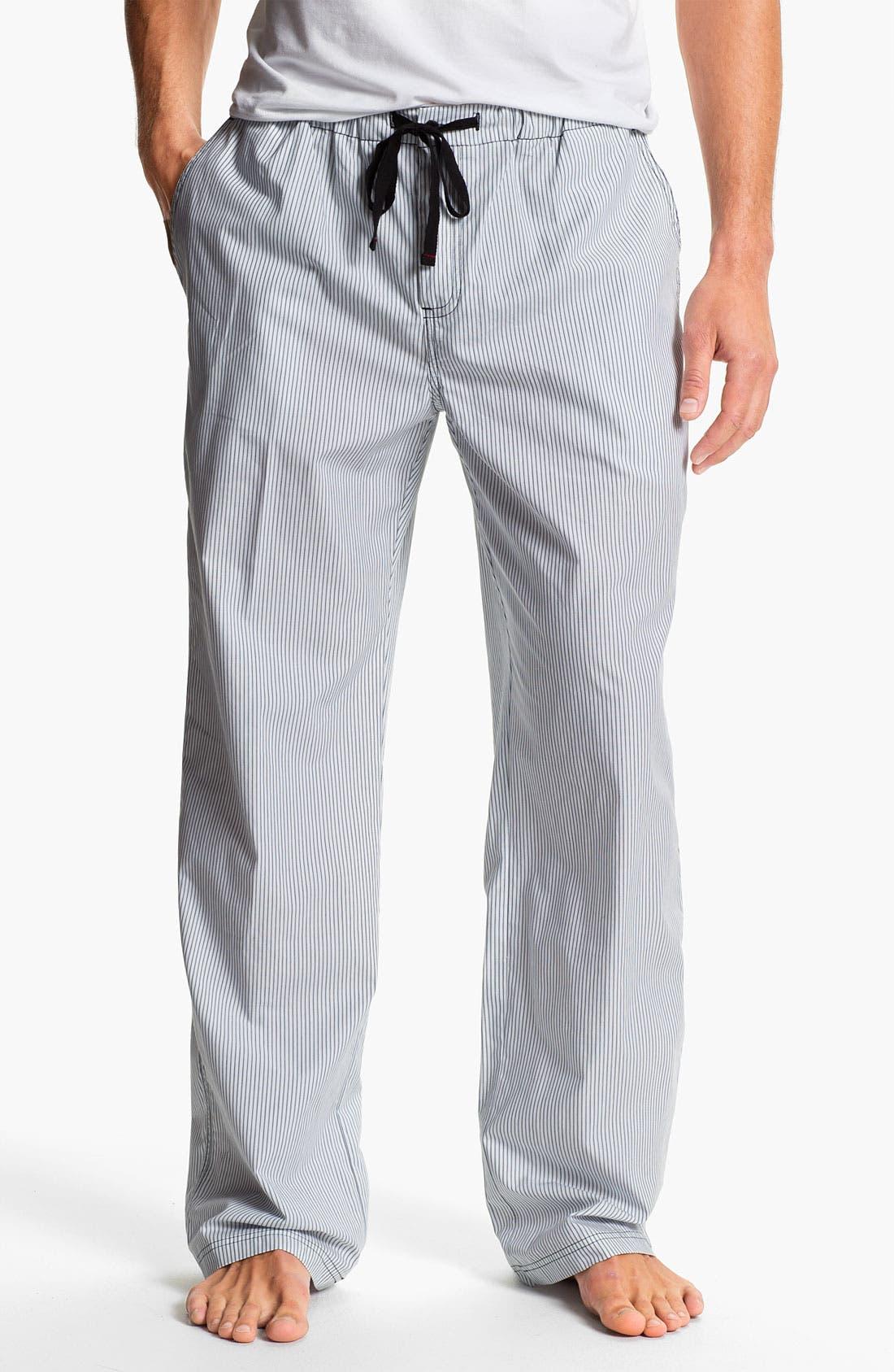 Alternate Image 1 Selected - Daniel Buchler Woven Cotton Lounge Pants