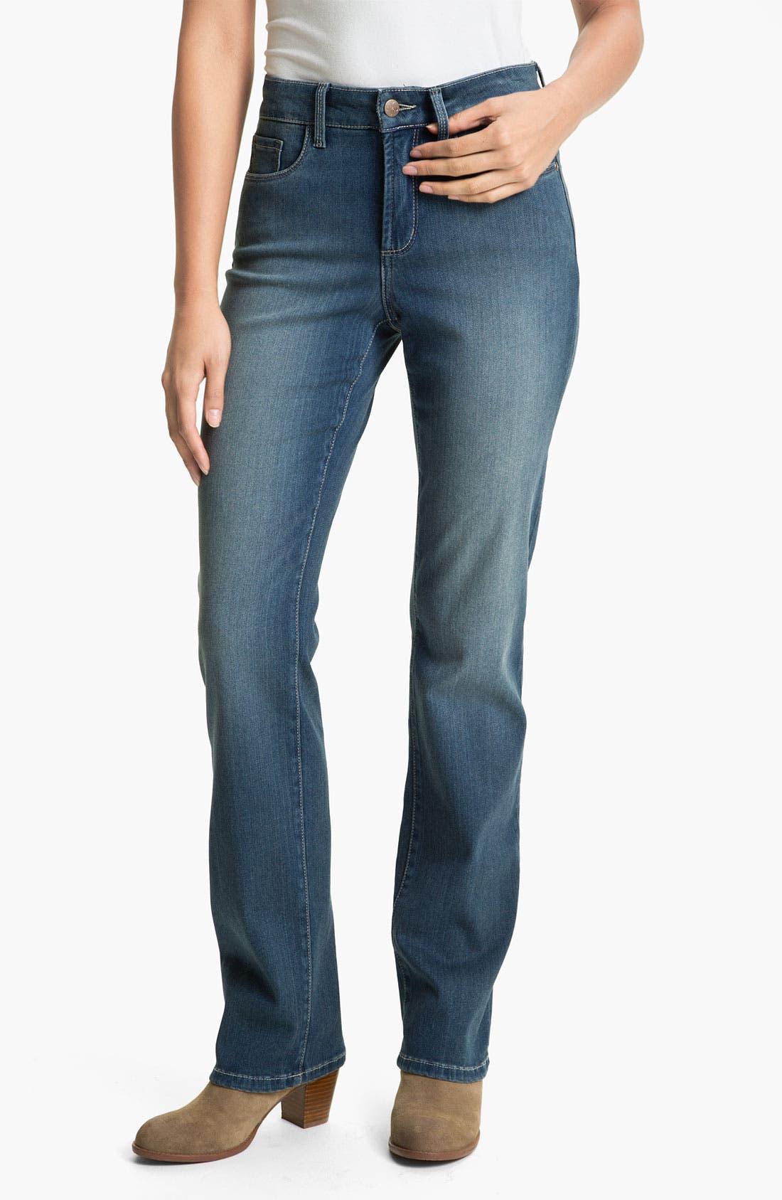 Alternate Image 1 Selected - NYDJ Straight Leg Stretch Jeans (Petite)
