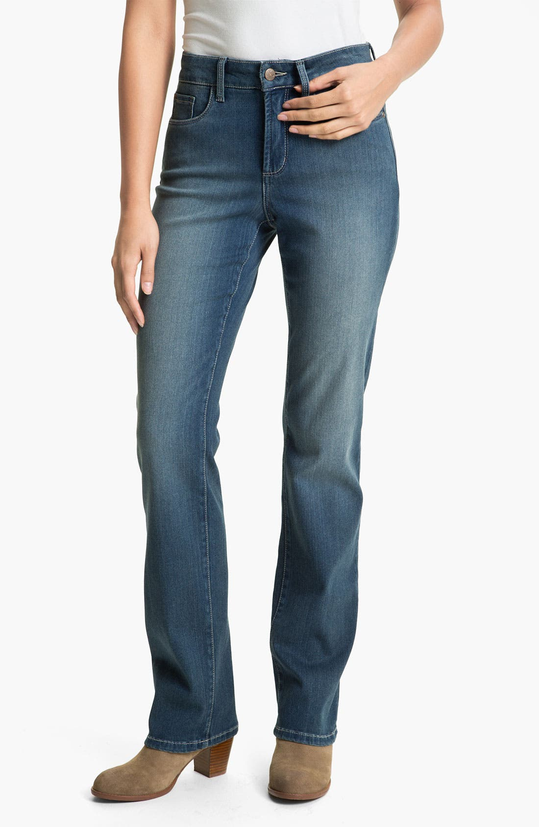 Main Image - NYDJ Straight Leg Stretch Jeans (Petite)