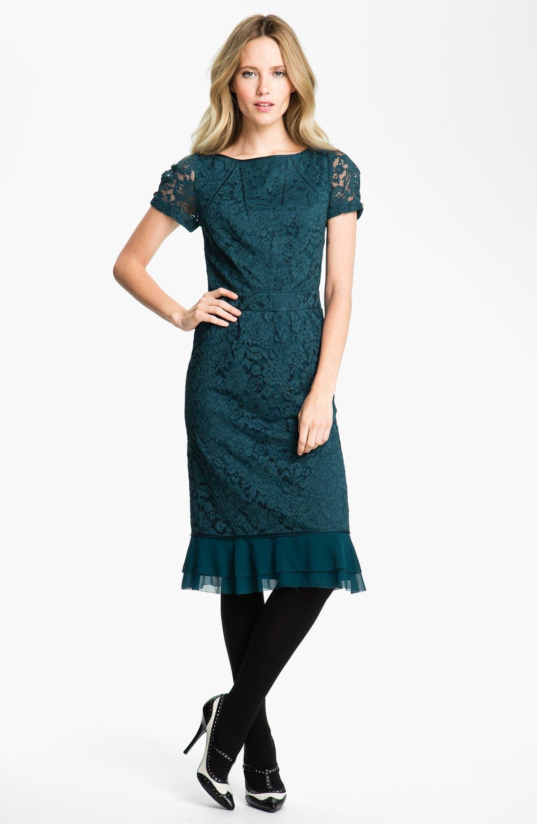 Main Image - Tory Burch 'Bovary' Lace Sheath Dress