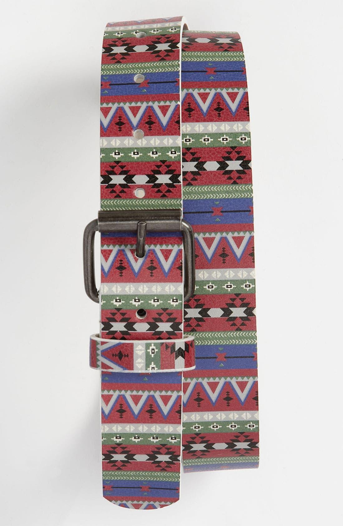 Alternate Image 1 Selected - Topman Print Belt