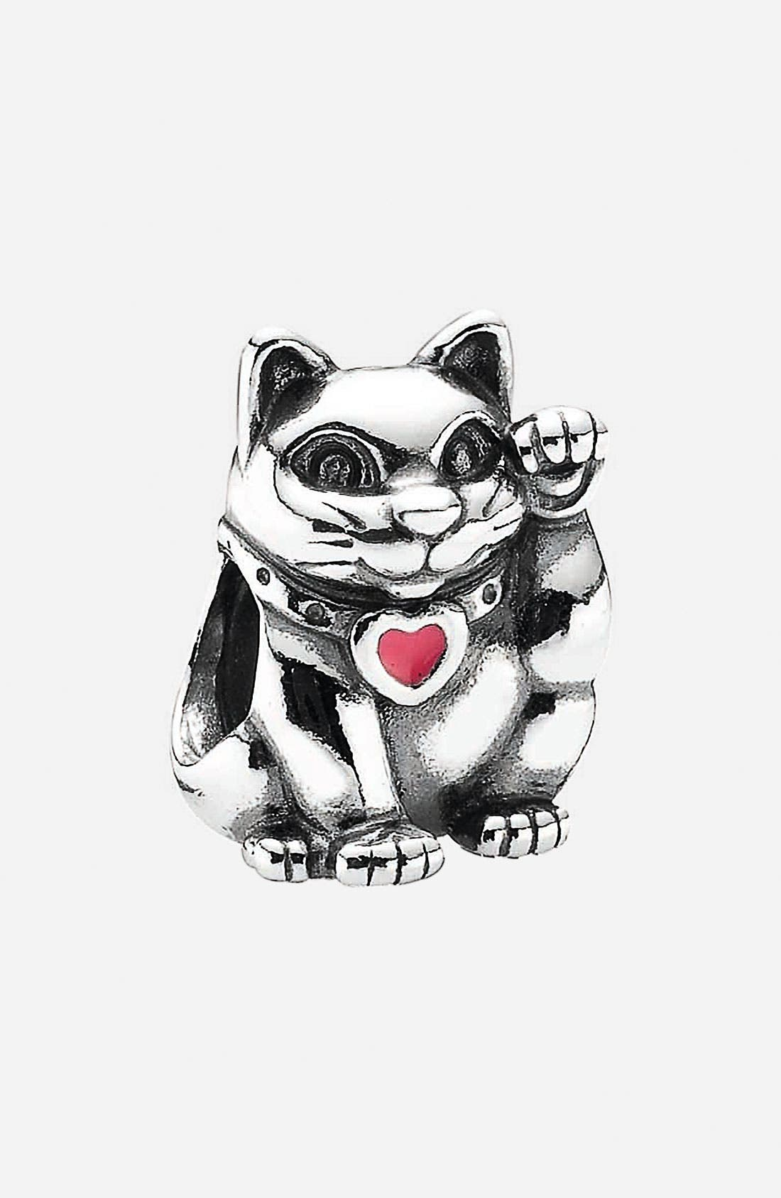 Alternate Image 1 Selected - PANDORA 'Lucky Cat' Bead Charm
