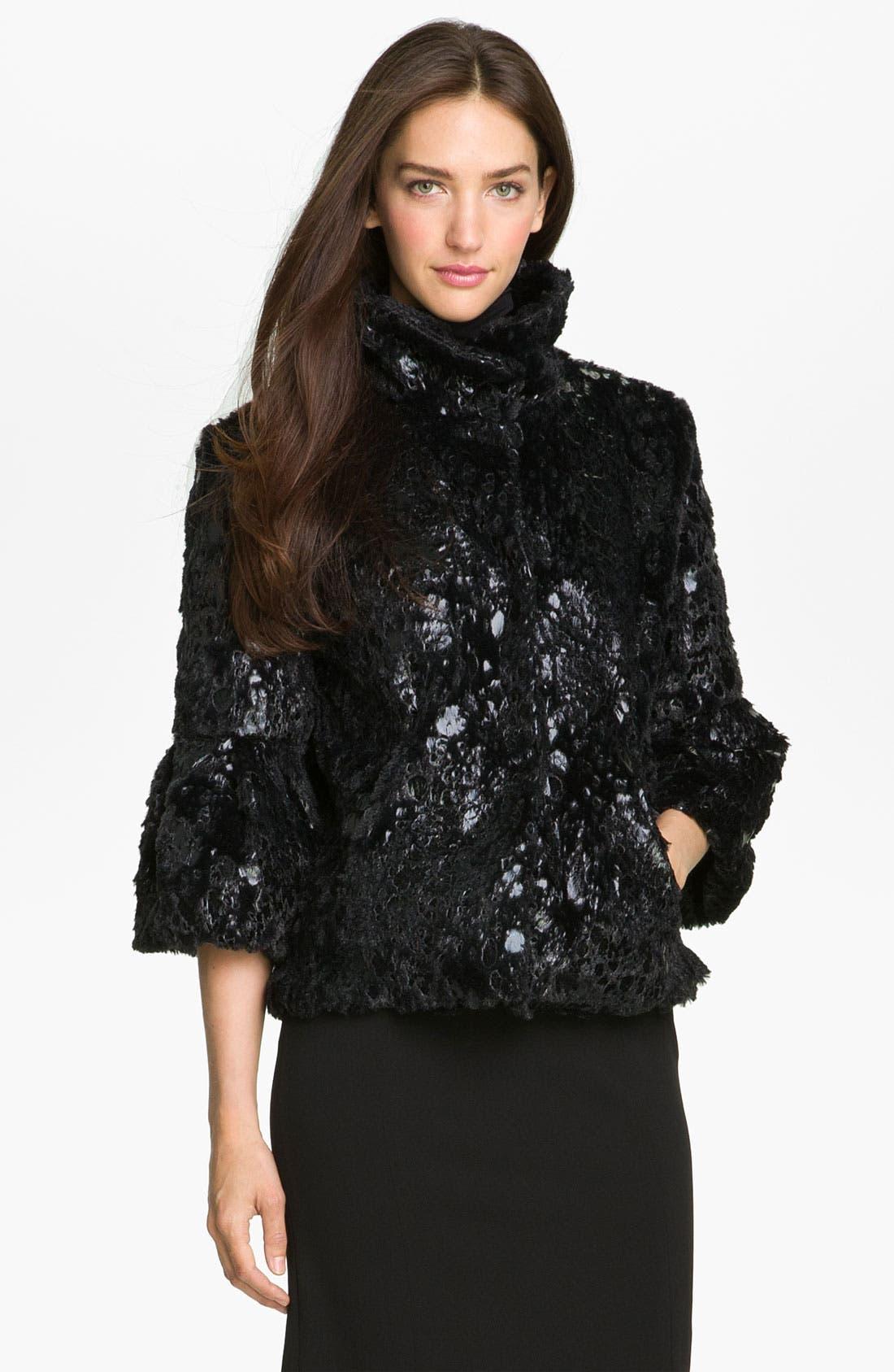 Main Image - Collection 'Gilda' Faux Fur Cape Jacket