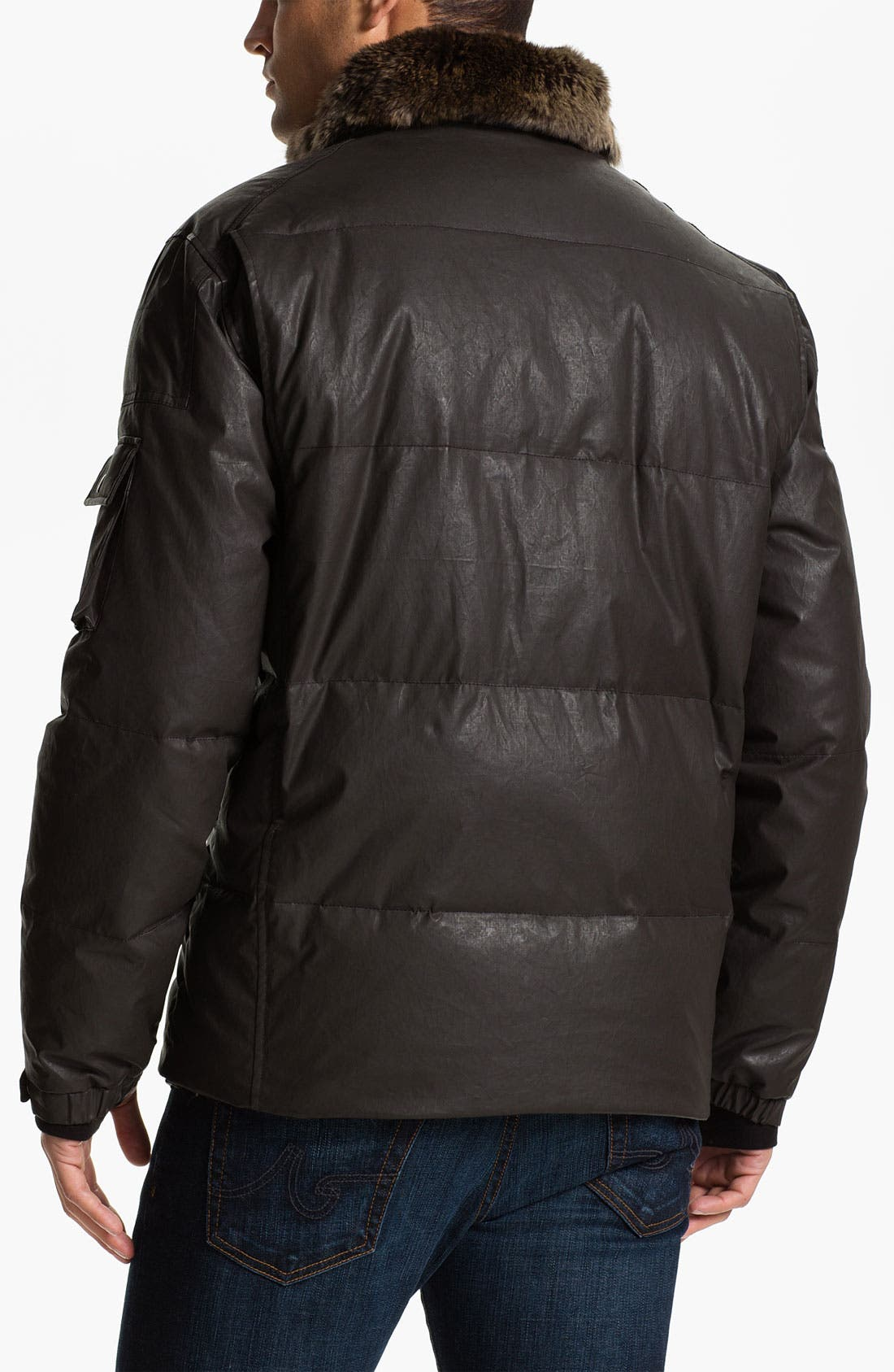 Alternate Image 2  - Sam 'Hunter' Quilted Down Jacket with Genuine Rabbit Trim