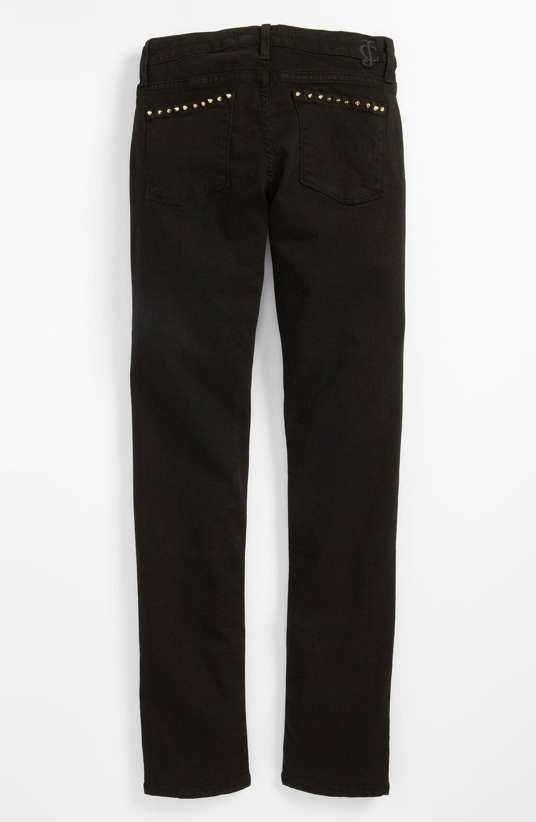 Alternate Image 1 Selected - Juicy Couture Overdyed Skinny Jeans (Little Girls & Big Girls)