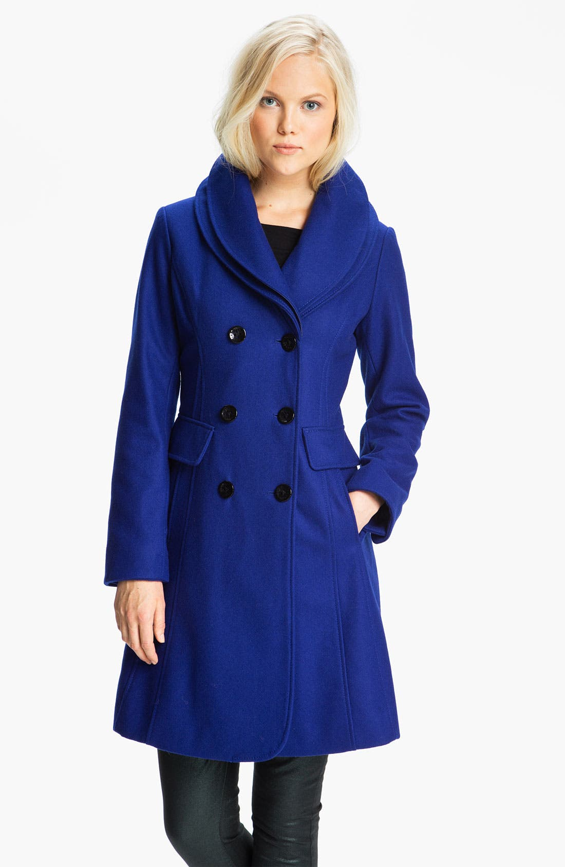 Alternate Image 1 Selected - GUESS Double Collar Coat (Online Exclusive)
