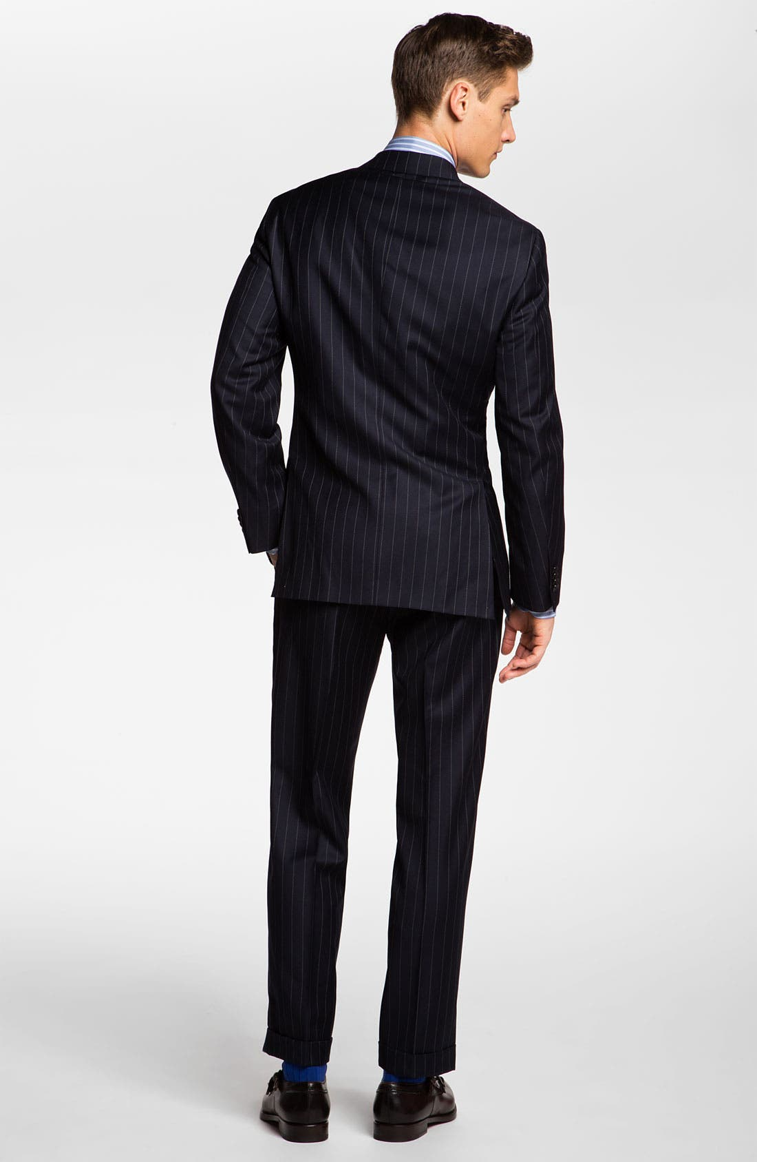 Alternate Image 3  - Hart Schaffner Marx Stripe Wool Suit