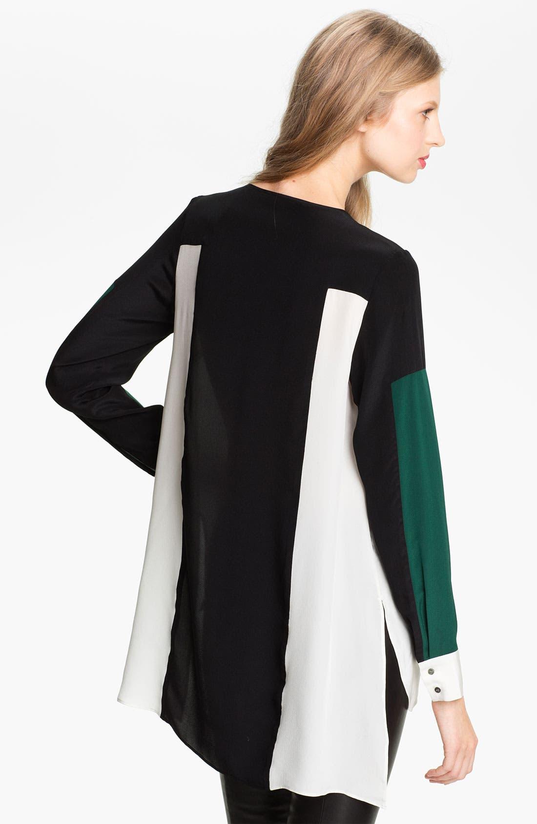 Alternate Image 2  - Elizabeth and James 'Ivy' Colorblock Silk Shirt