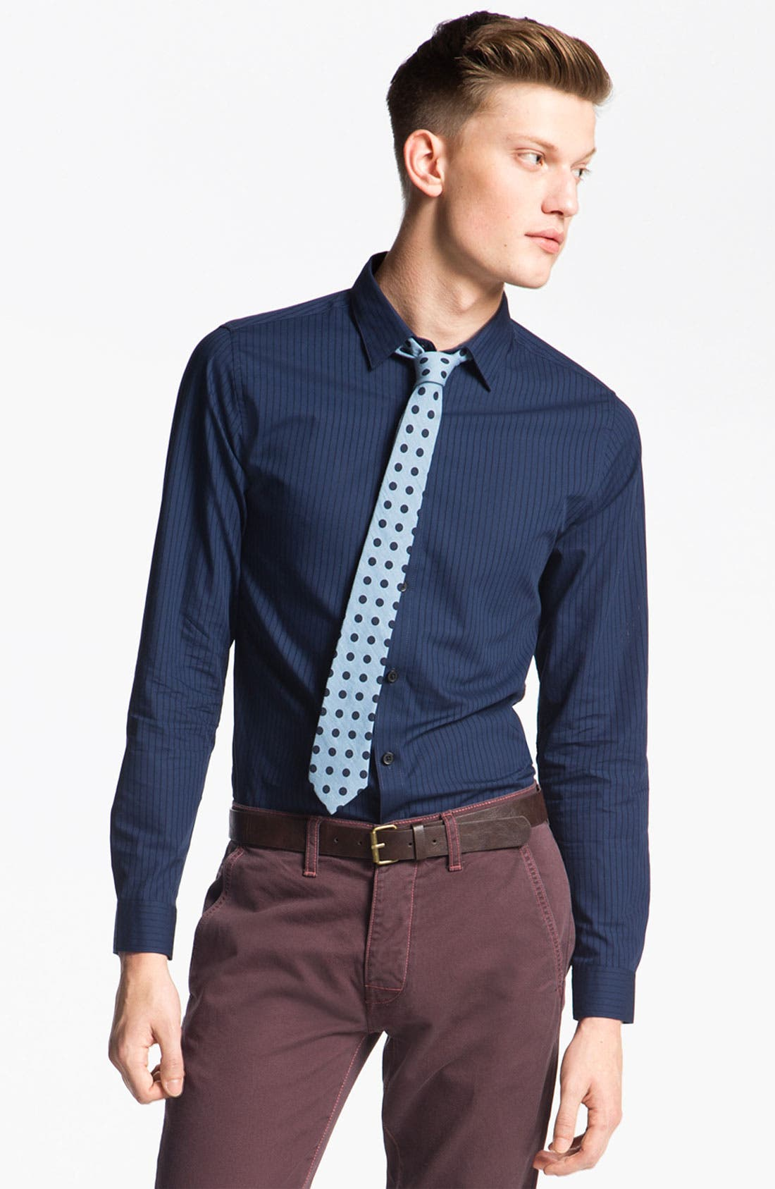 Alternate Image 1 Selected - Topman 'Smart' Extra Trim Dress Shirt
