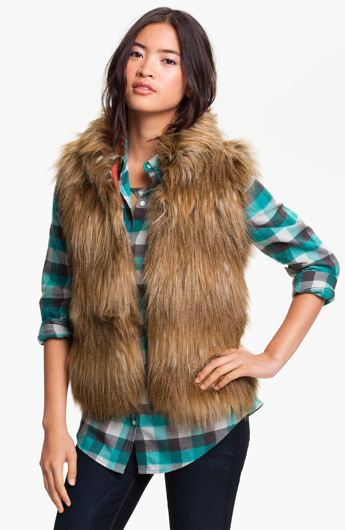 Alternate Image 1 Selected - Jack Faux Fur Vest (Juniors)
