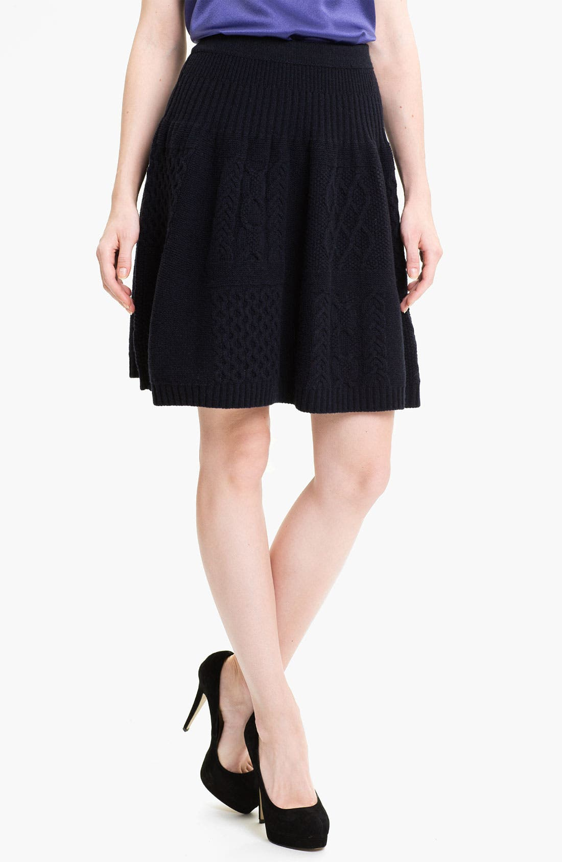 Alternate Image 1 Selected - MARC BY MARC JACOBS 'Glenda' Cable Sweater Skirt