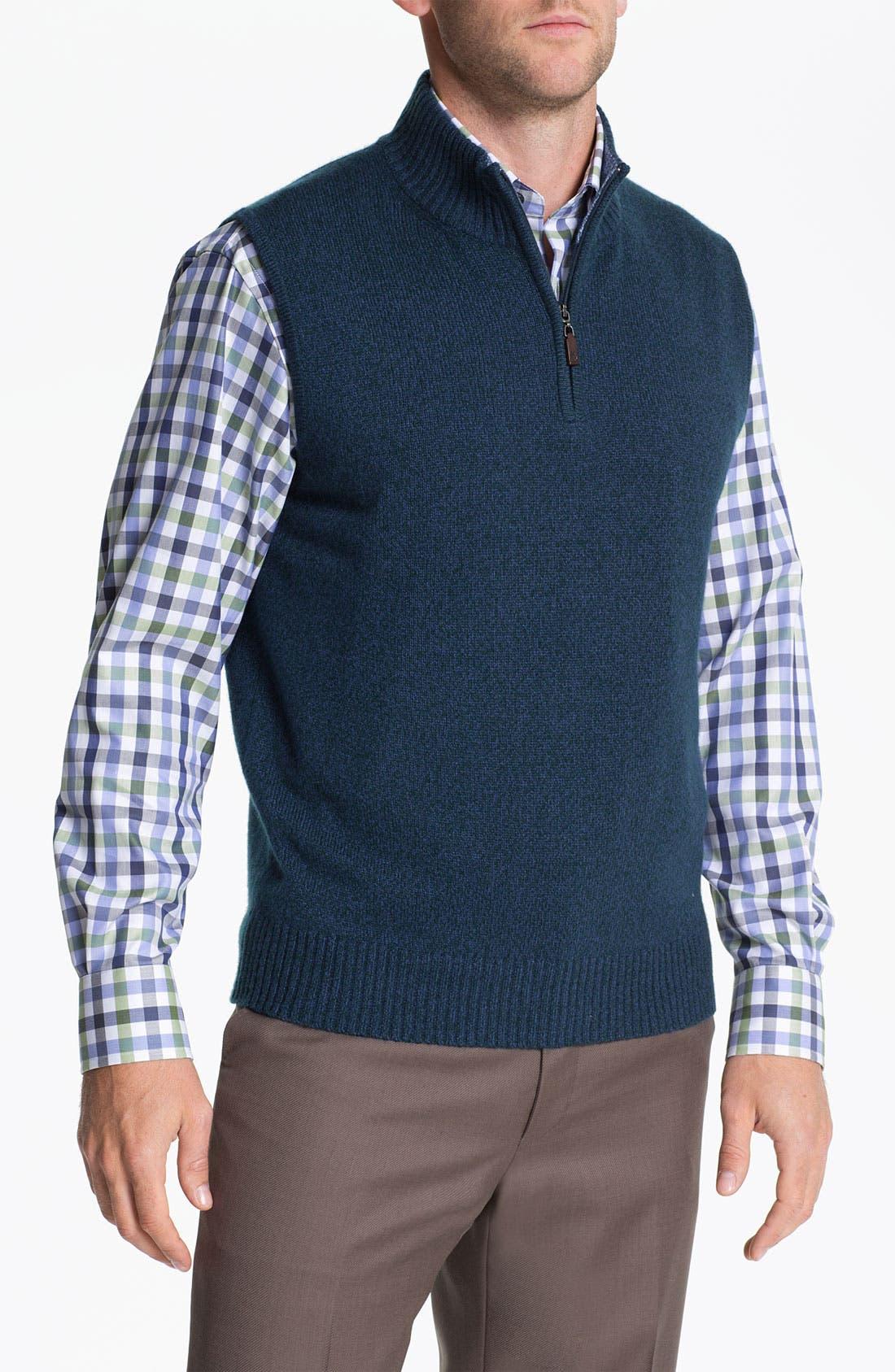 Alternate Image 1 Selected - Robert Talbott Wool & Cashmere Blend Sweater Vest