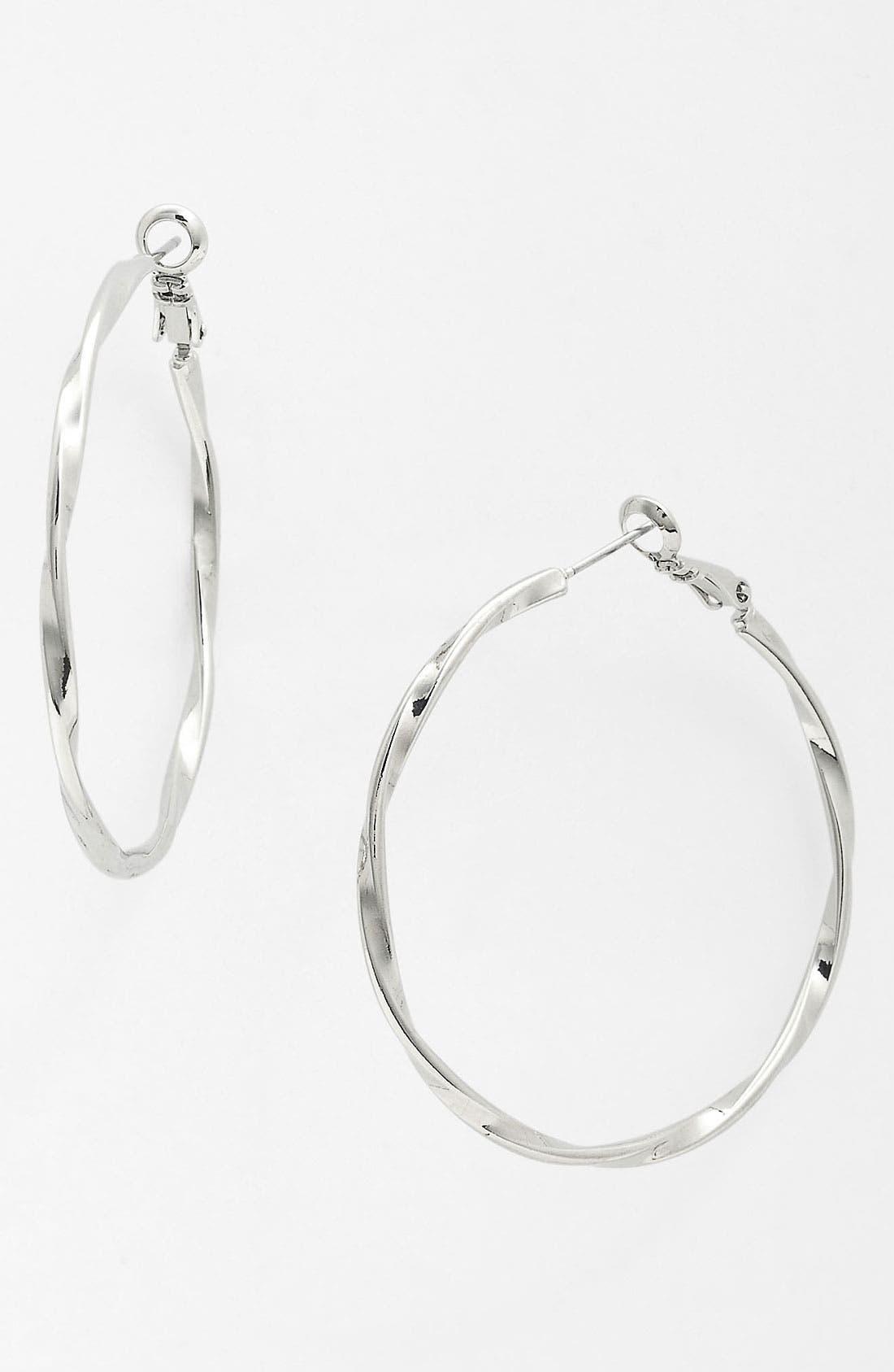 Alternate Image 1 Selected - Nordstrom Twisted Hoop Earrings