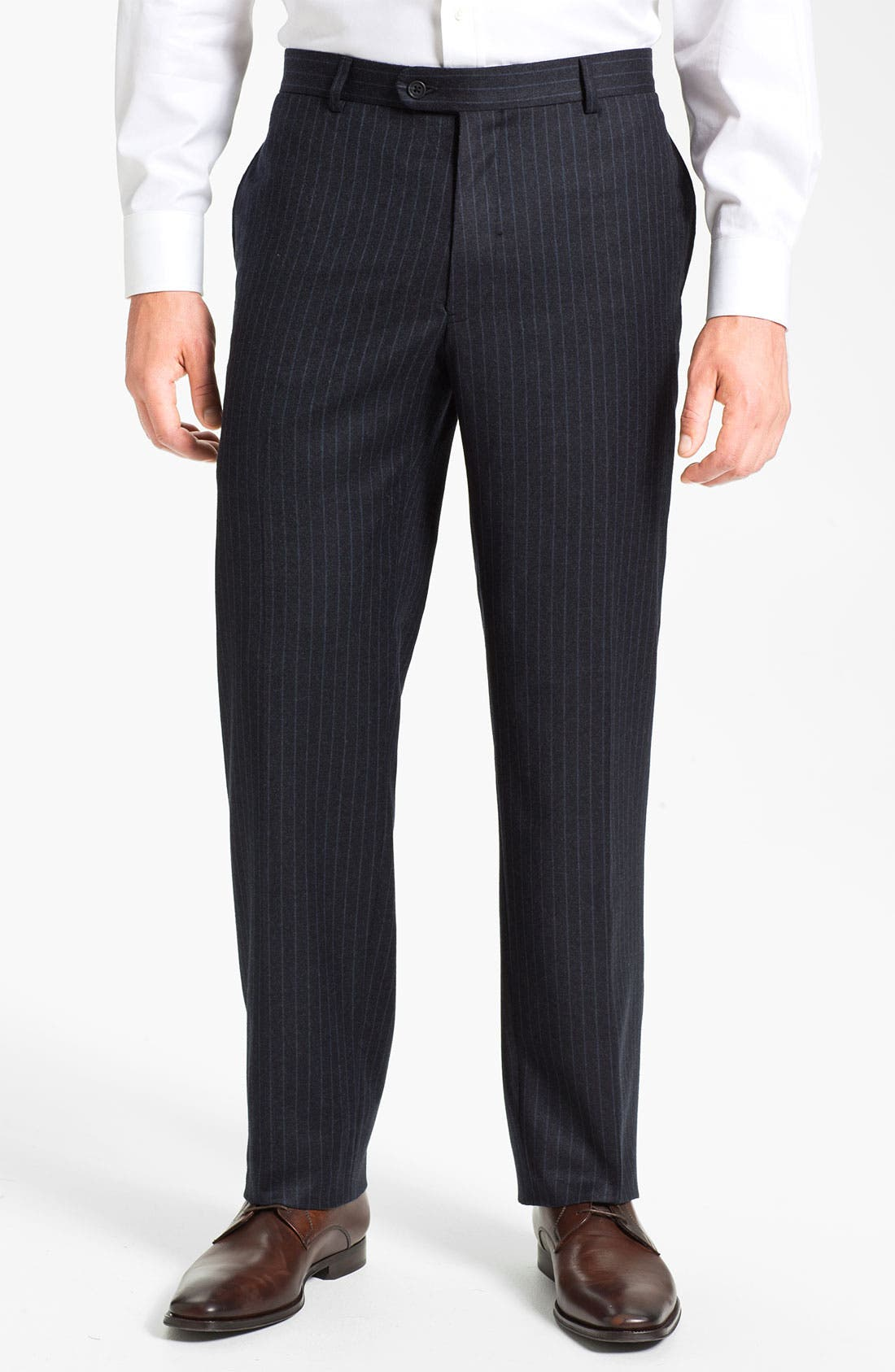 Alternate Image 4  - Joseph Abboud Double Breasted Pinstripe Suit