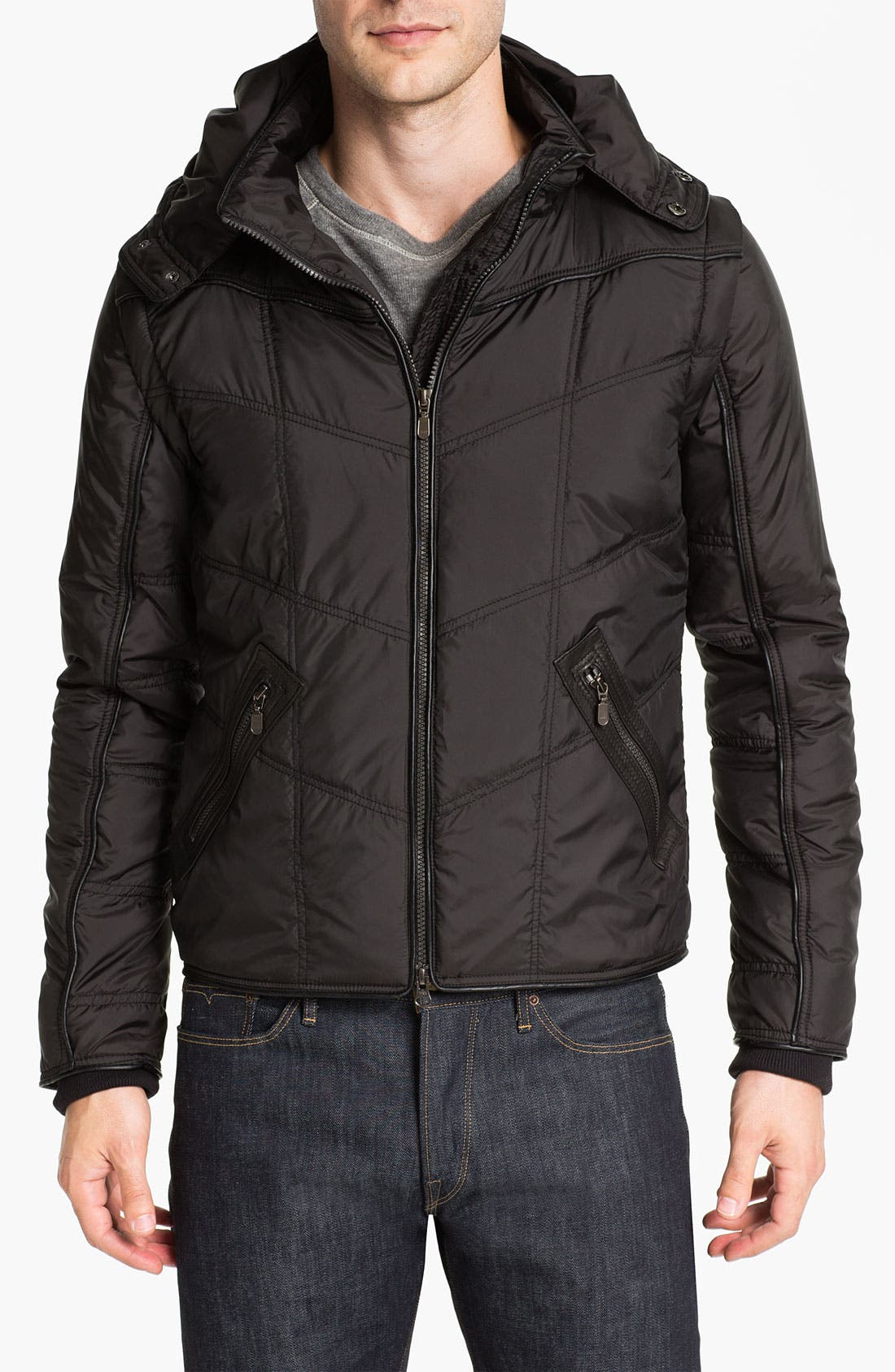 Main Image - Bod & Christensen Quilted Bomber Jacket