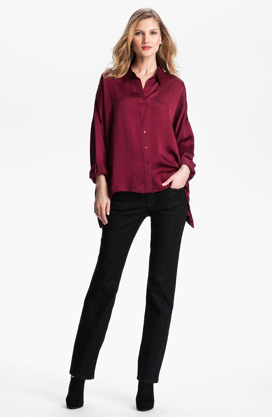 Alternate Image 4  - Eileen Fisher Hammered Silk Shirt