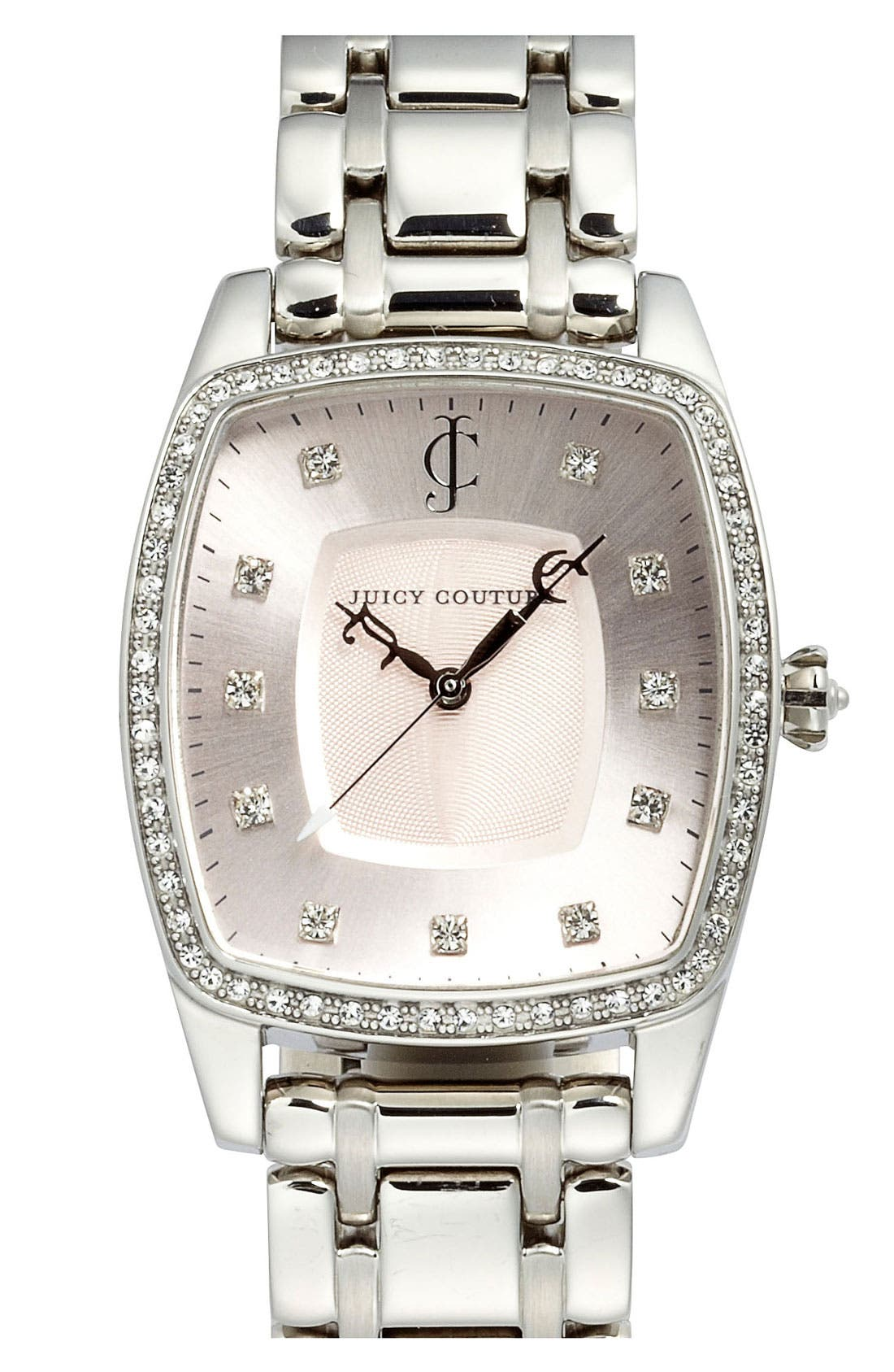 Main Image - Juicy Couture 'Beau' Crystal Accent Bracelet Watch, 32mm