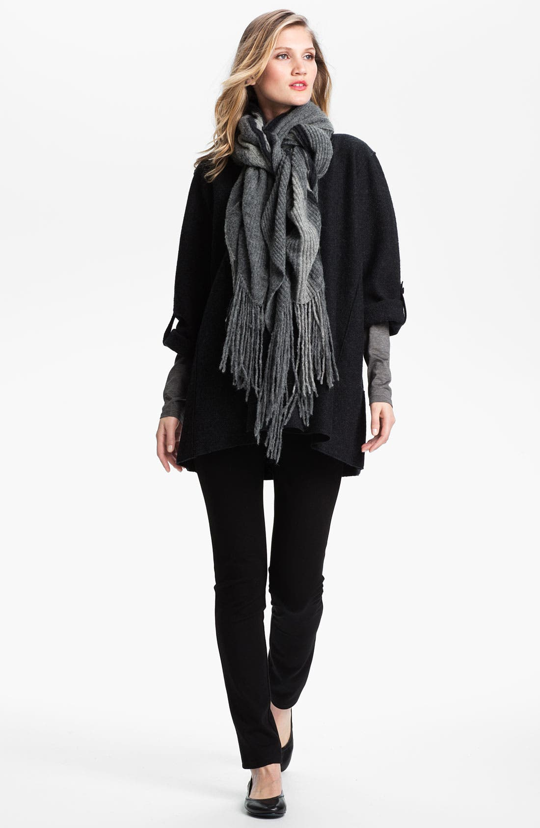 Alternate Image 3  - Eileen Fisher Ombré Knit Scarf