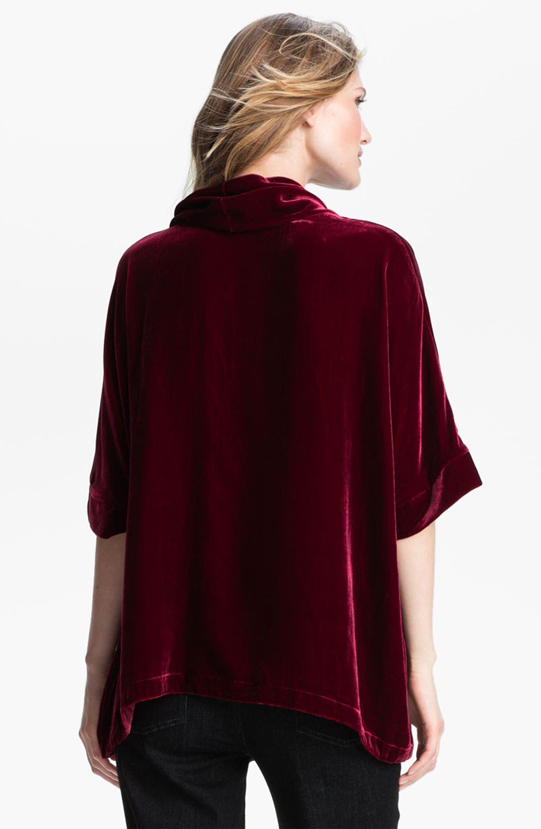 Alternate Image 2  - Eileen Fisher Washable Velvet Top