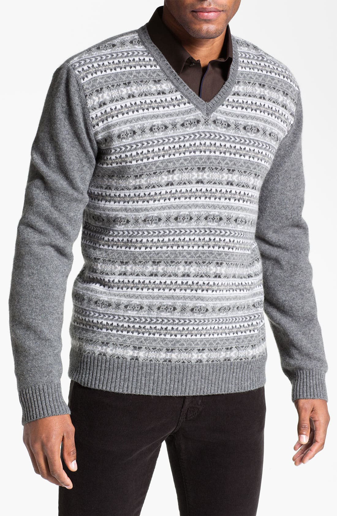 Alternate Image 1 Selected - Fiesole Wool Blend V-Neck Sweater