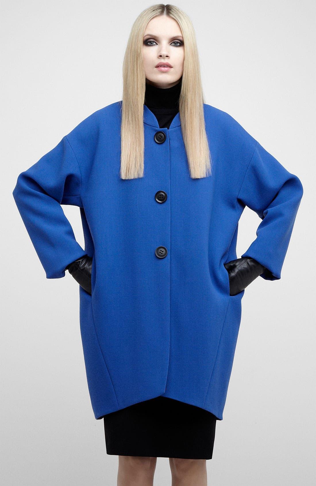 Alternate Image 2  - Lafayette 148 New York Coat, Turtleneck & Skirt