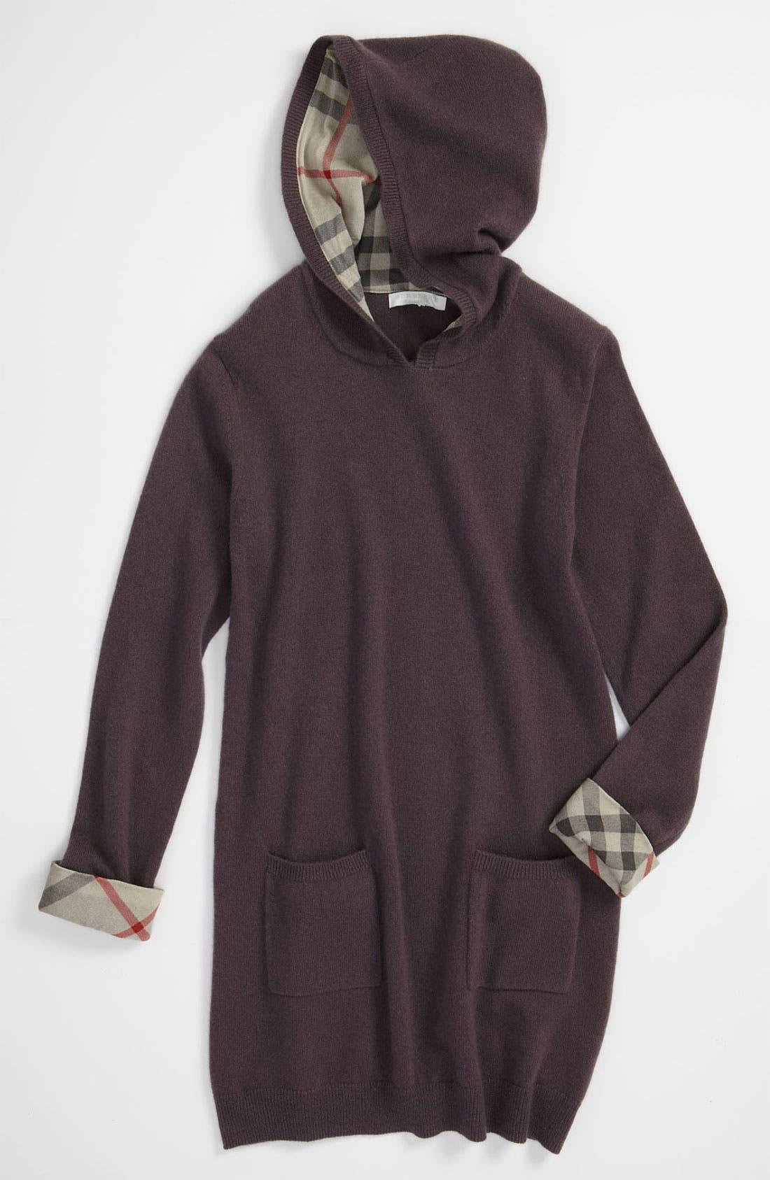 Alternate Image 1 Selected - Burberry Cashmere Tunic Dress (Big Girls)