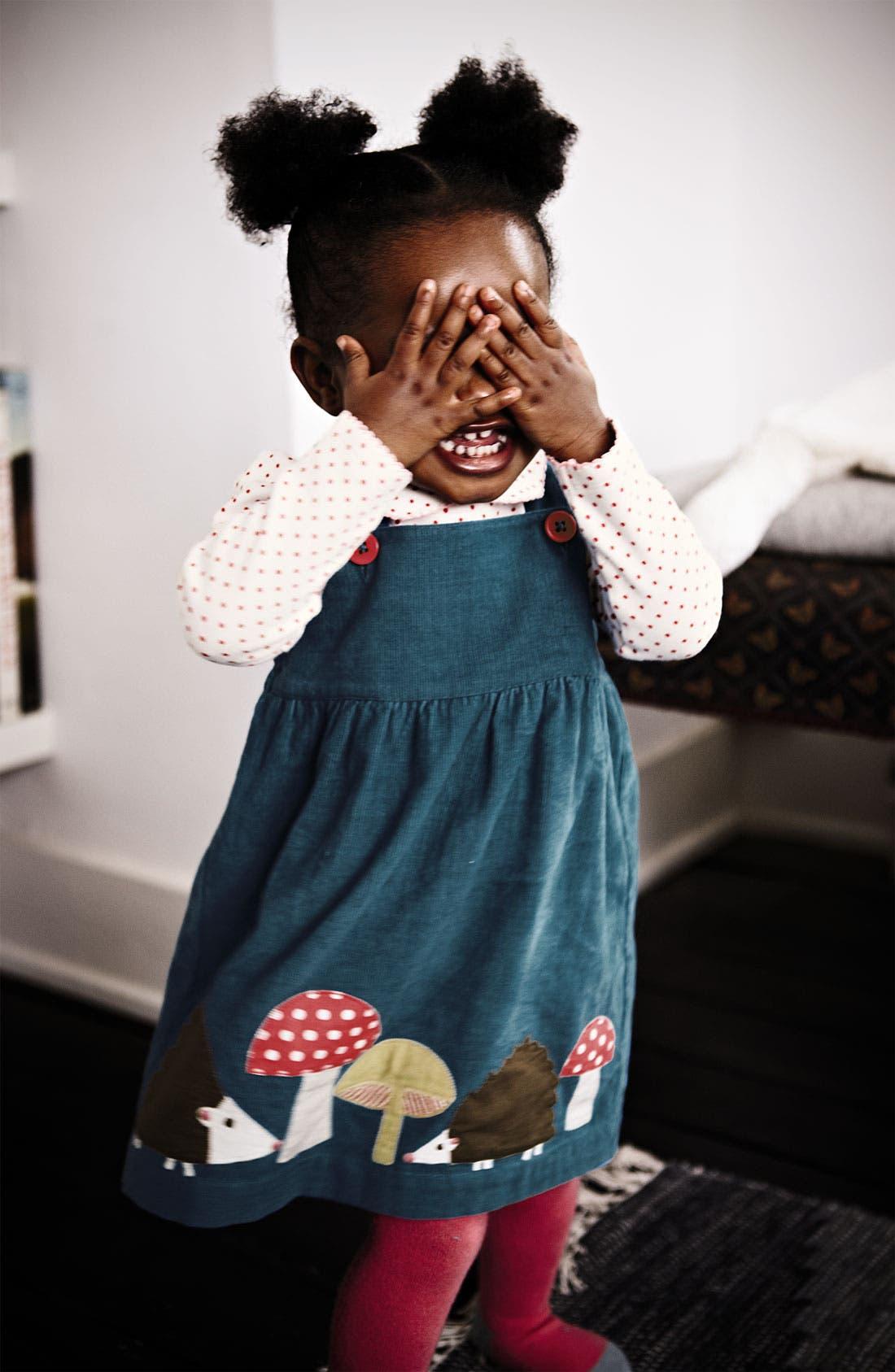 Alternate Image 2  - Mini Boden Appliqué Dress (Infant)