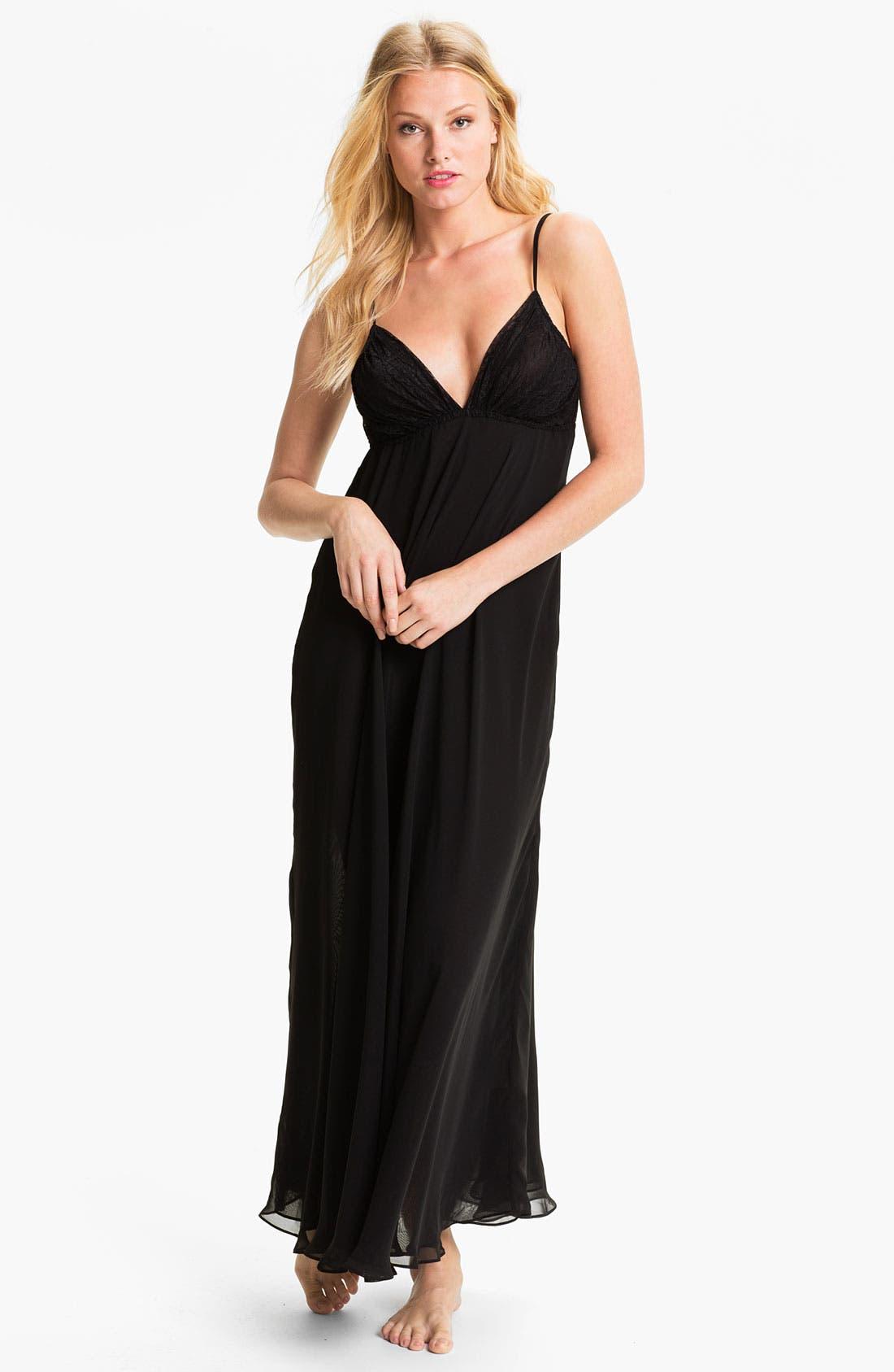 Main Image - Donna Karan Silky Chiffon Nightgown